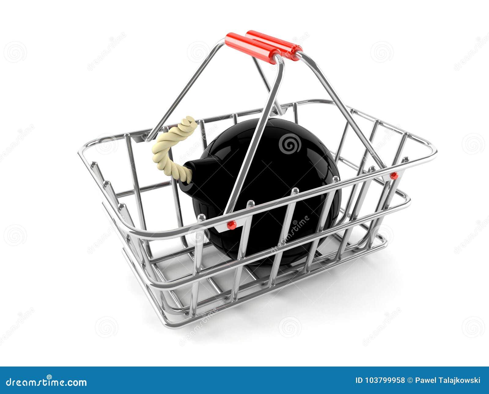 Concepto de las compras del bombardeo