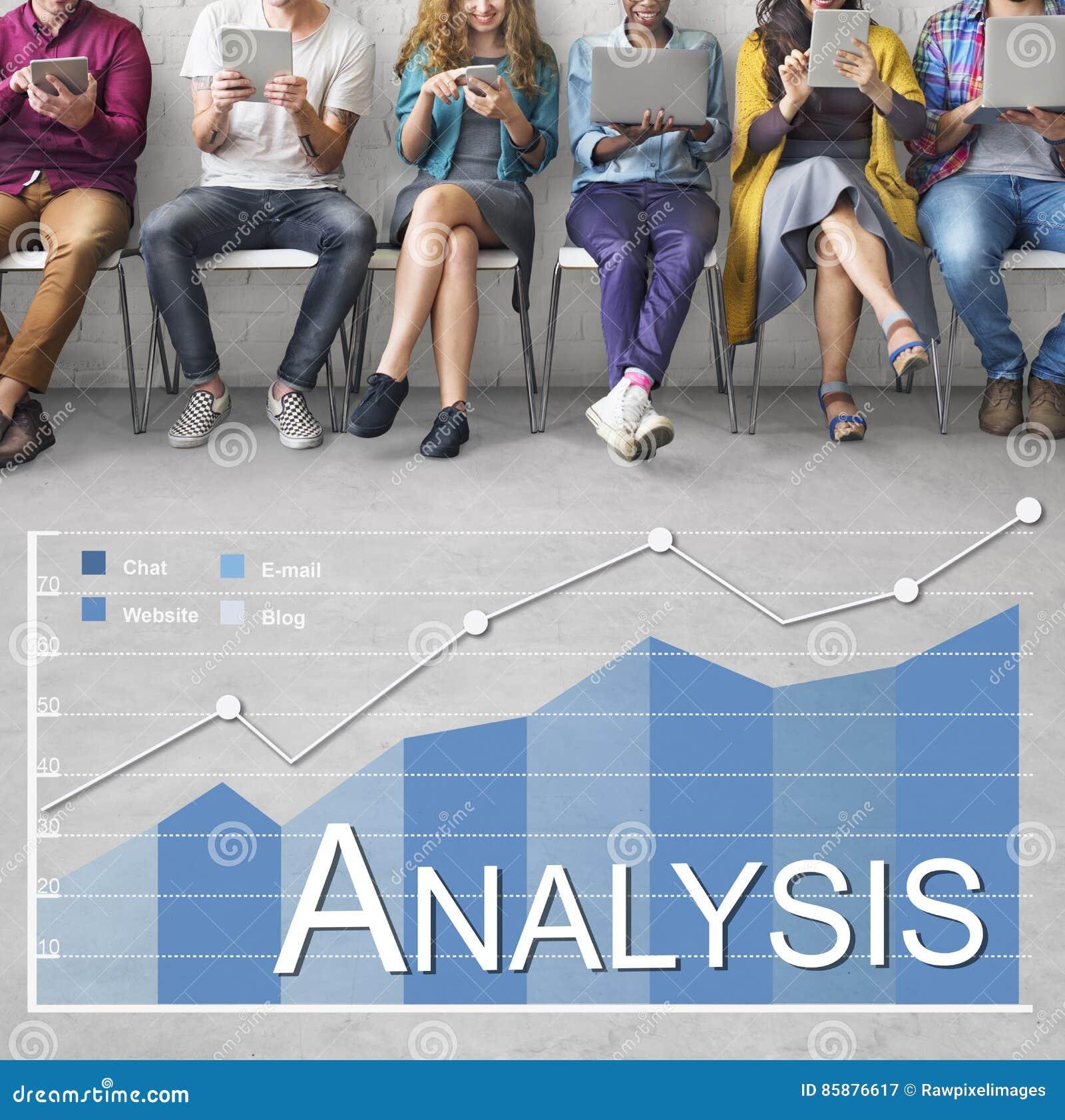 Concepto de las estadísticas de negocio del Analytics del análisis