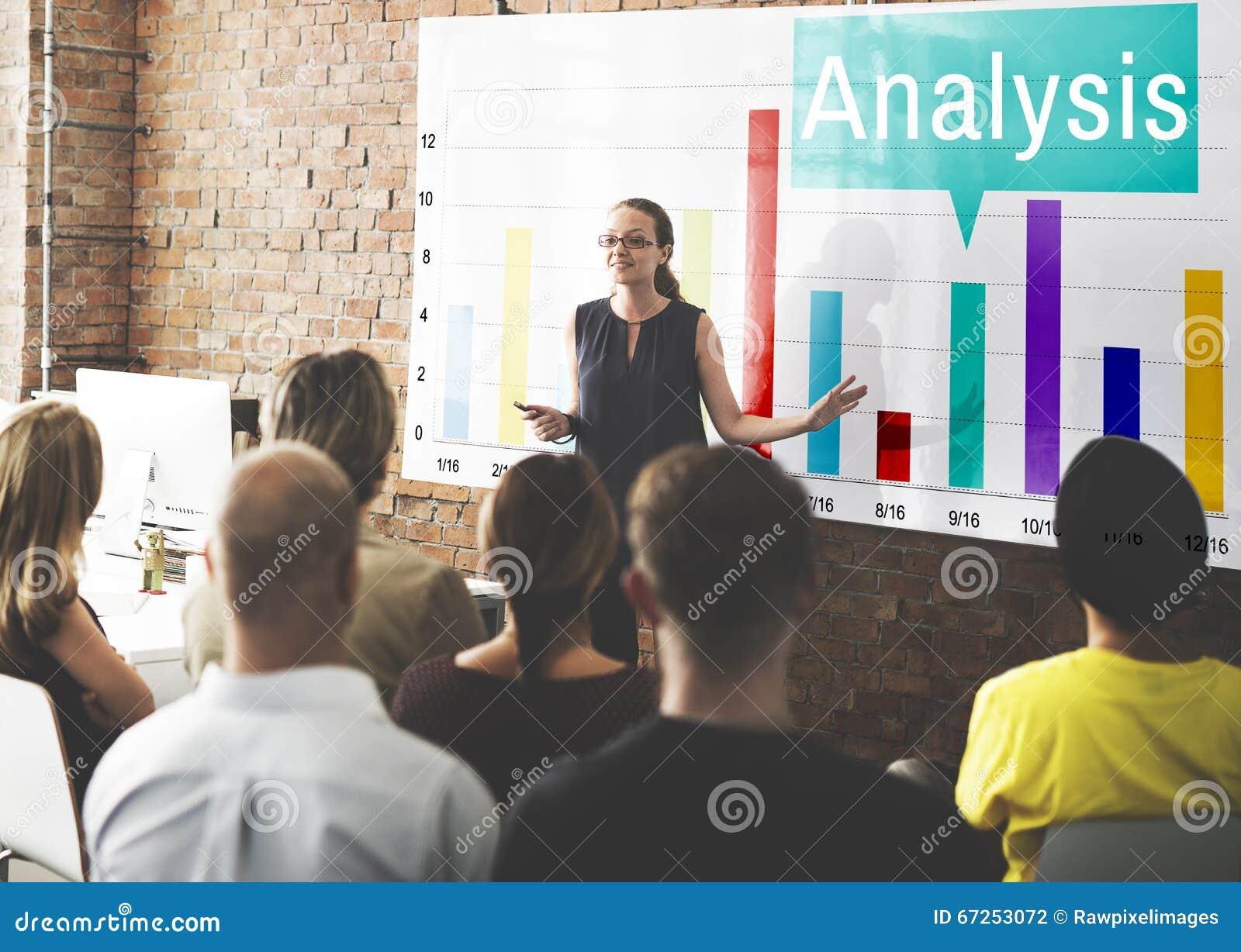 Concepto de las estadísticas del crecimiento del gráfico del Analytics del análisis
