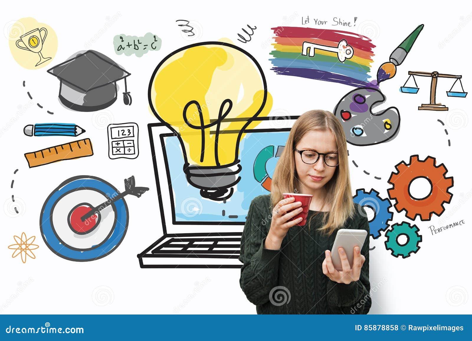 Concepto de las ideas de la idea de los datos de fuentes de la aspiración de la inspiración