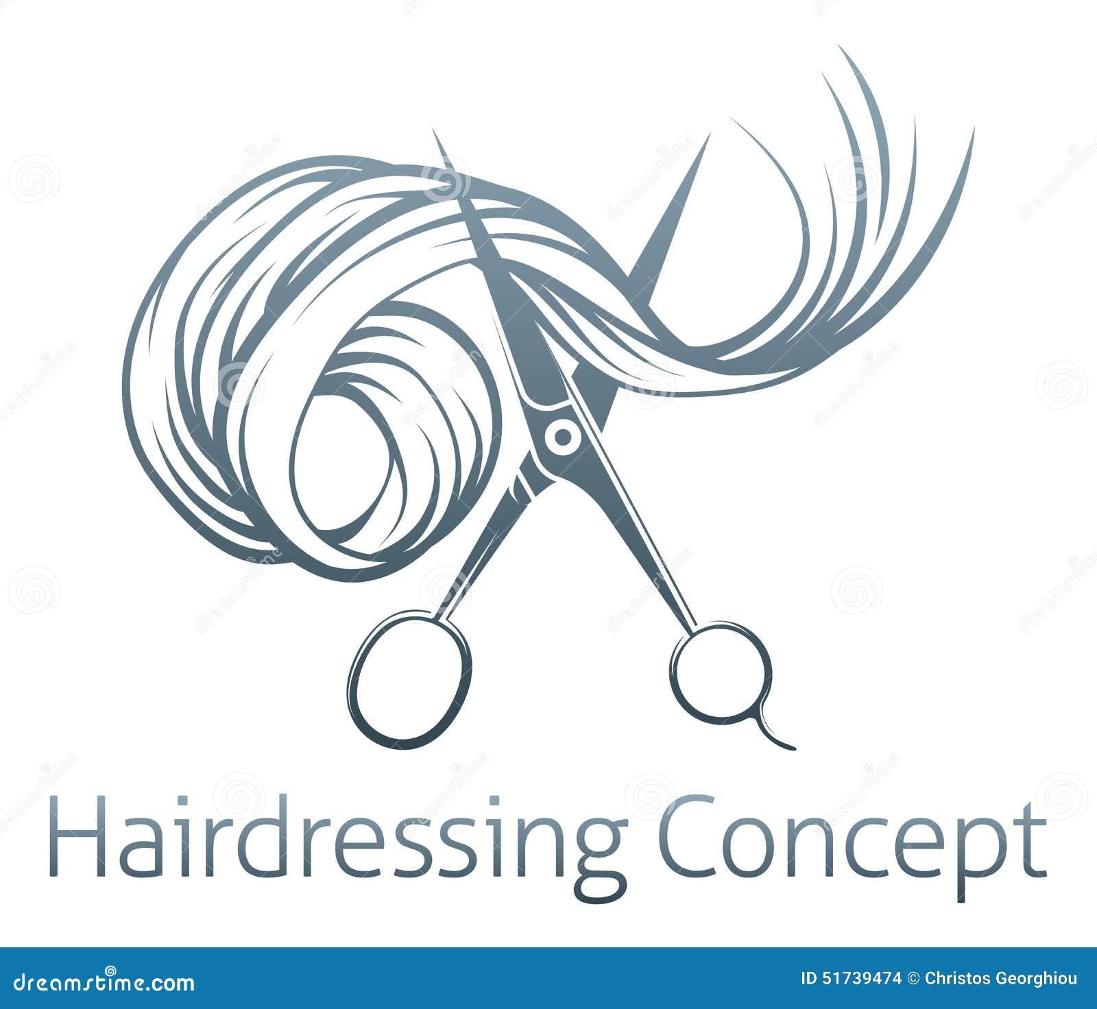 Los peluqueros Scissors concepto de un par de tijeras de los ...