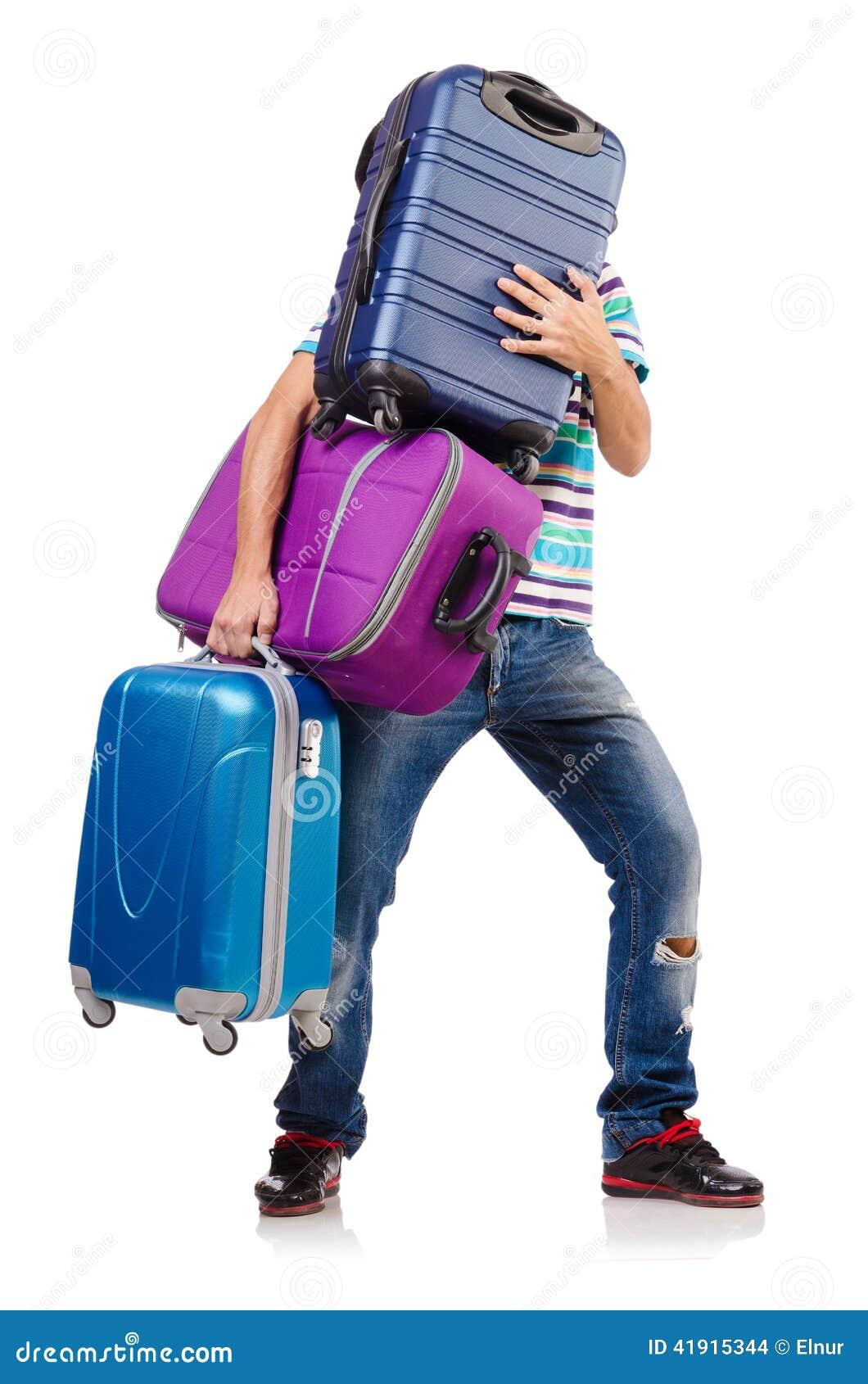 Concepto de las vacaciones del viaje con equipaje
