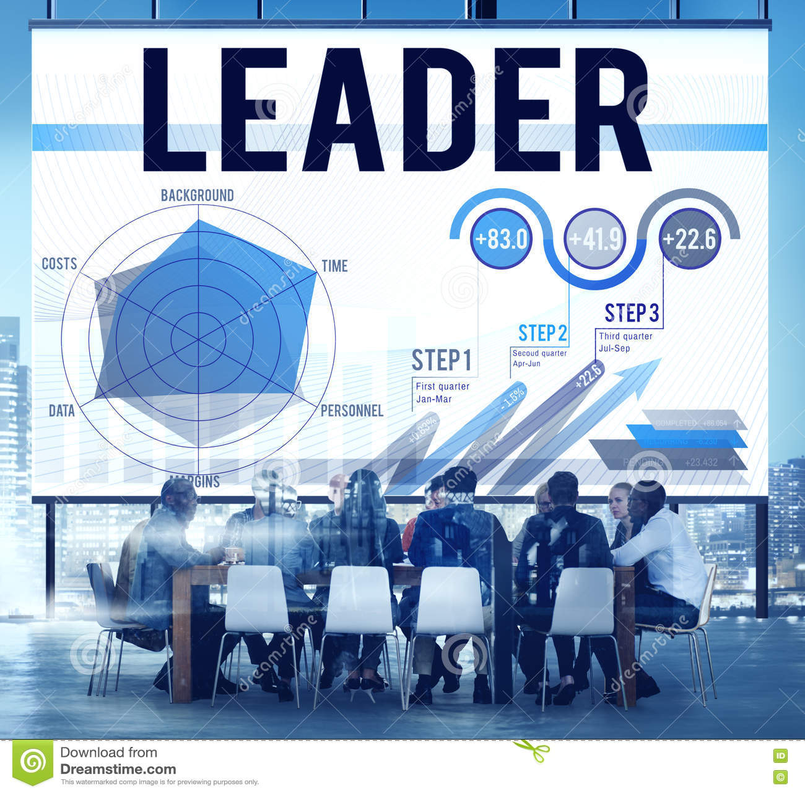Concepto de Leadership Business Meeting del líder