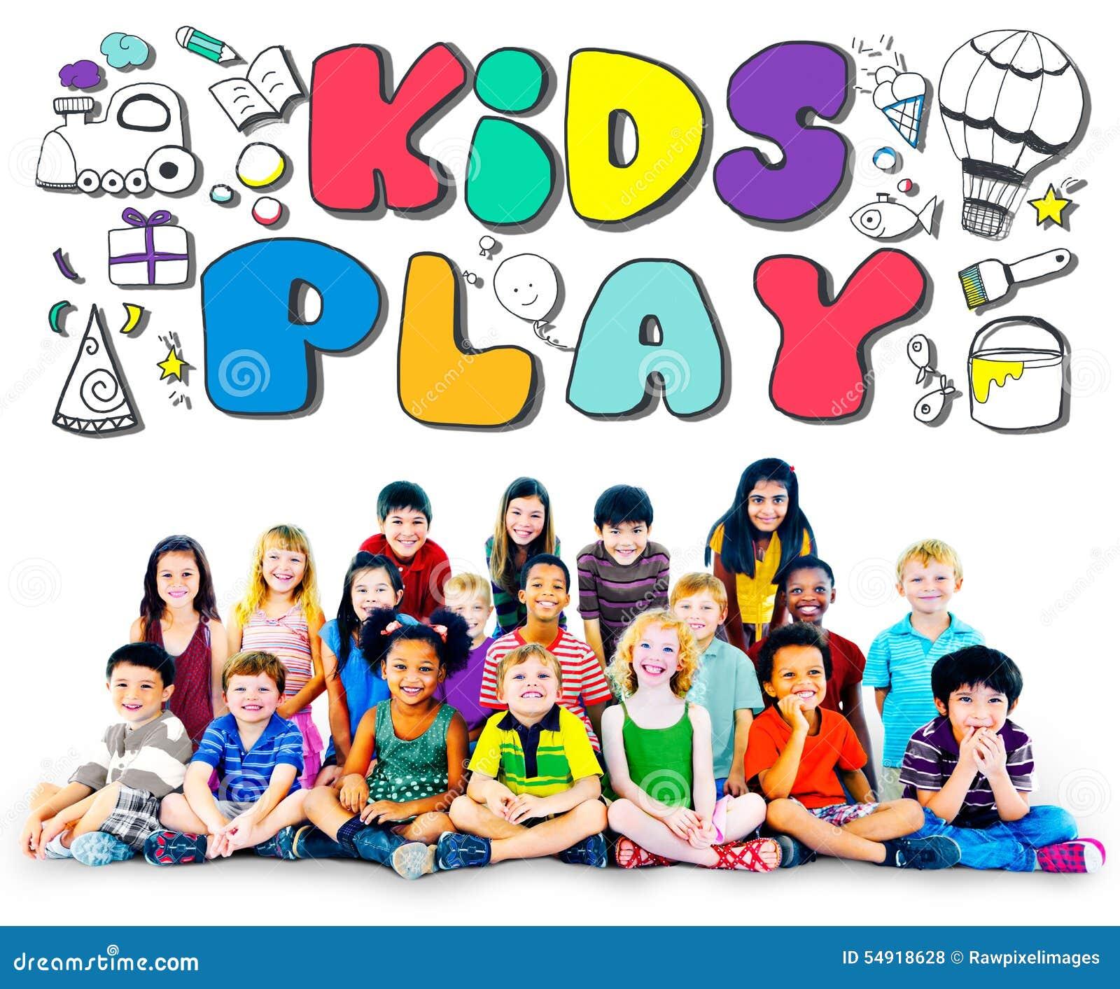 Concepto de los juegos del ocio de las aficiones de la imaginación del juego de los niños
