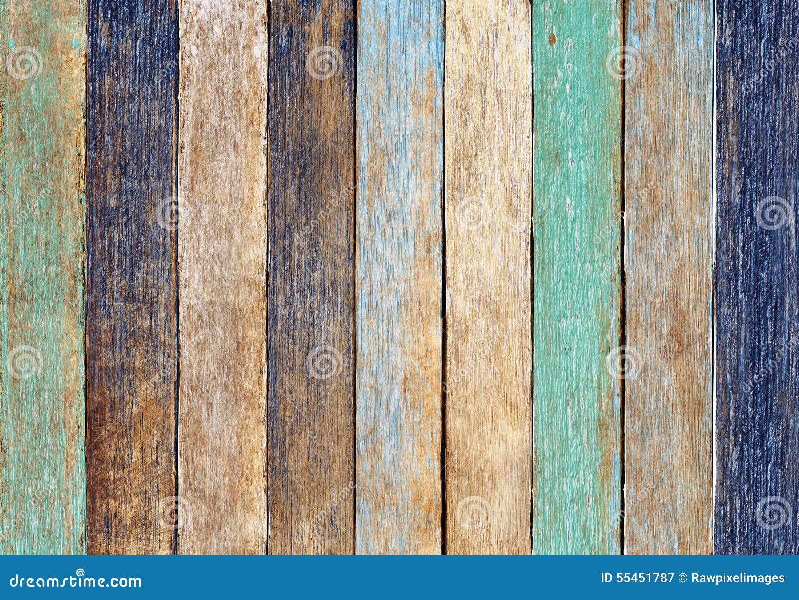 Concepto de madera colorido del fondo de la pared del tablón