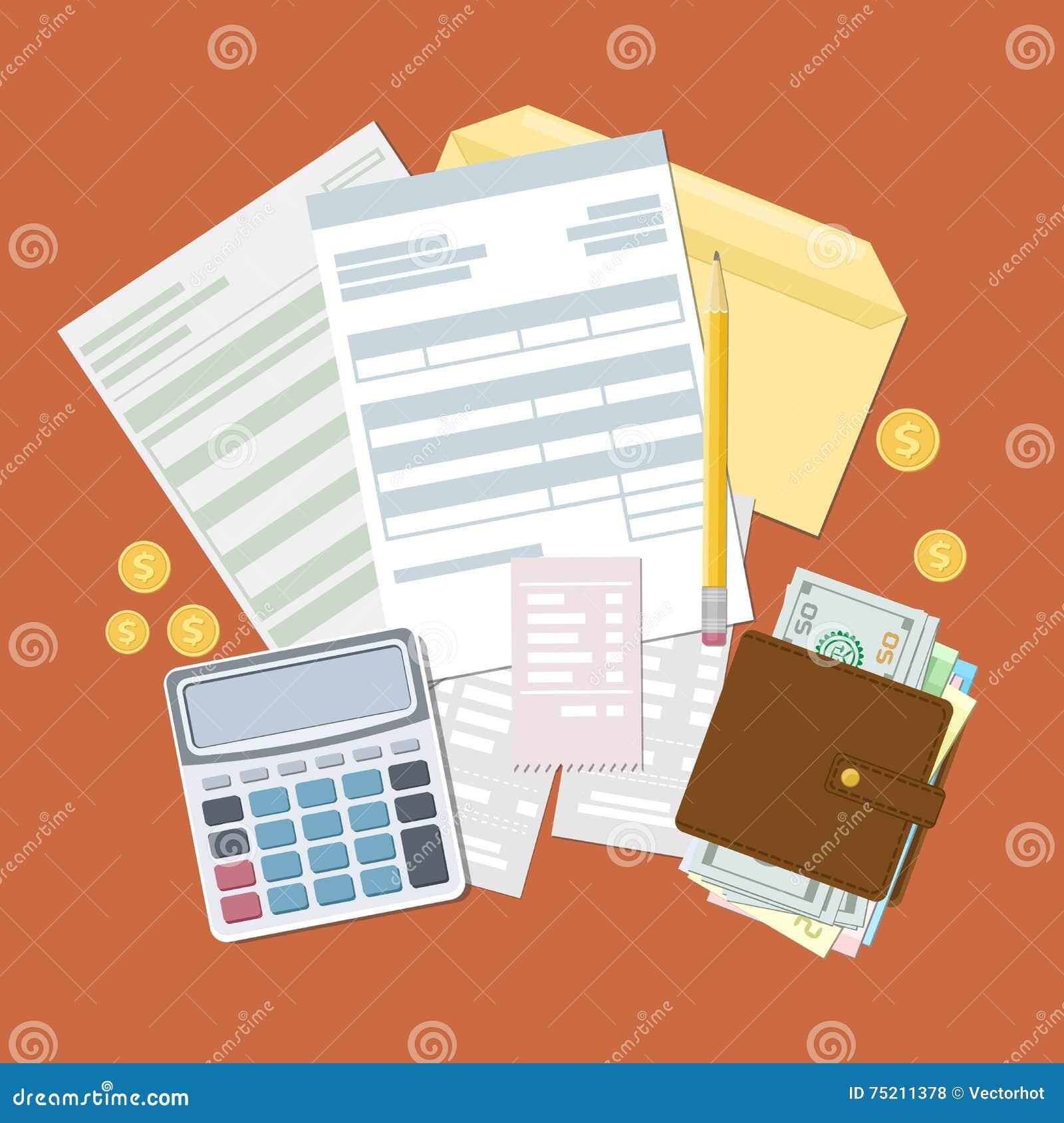 Concepto de pago y de factura de impuestos