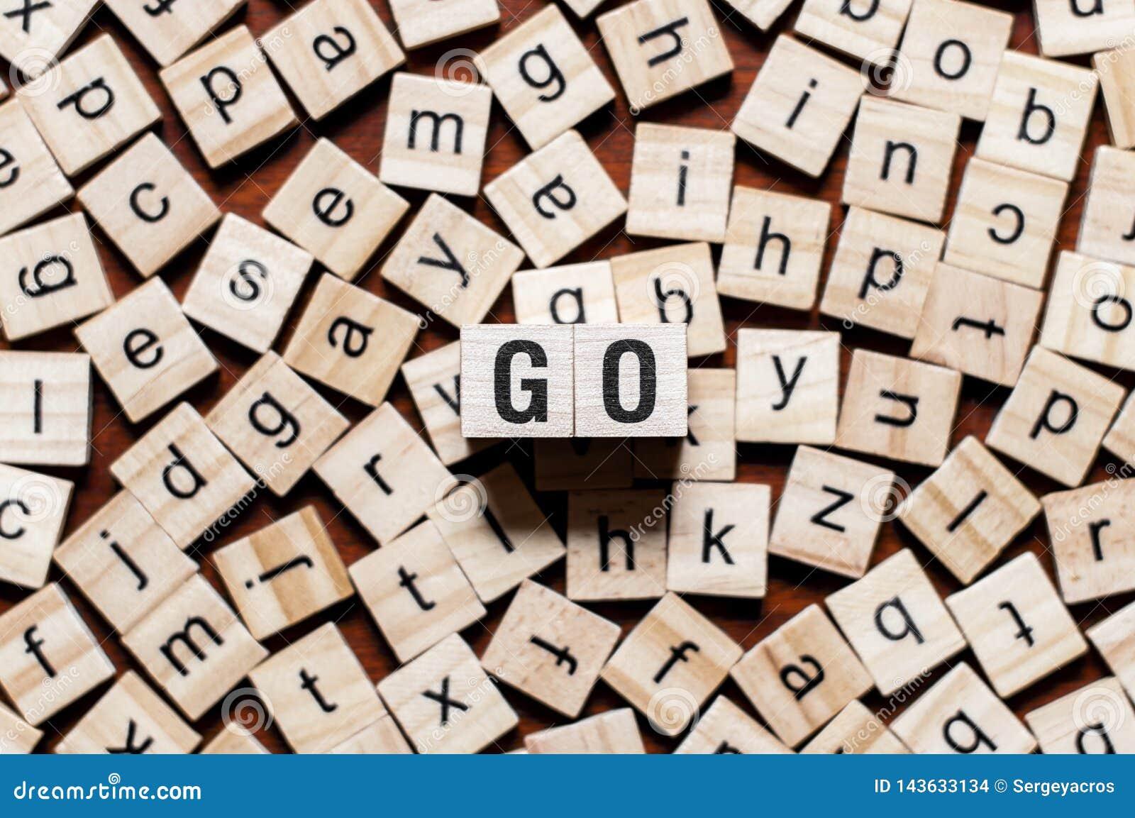 Concepto de programación de la palabra del lenguaje Go