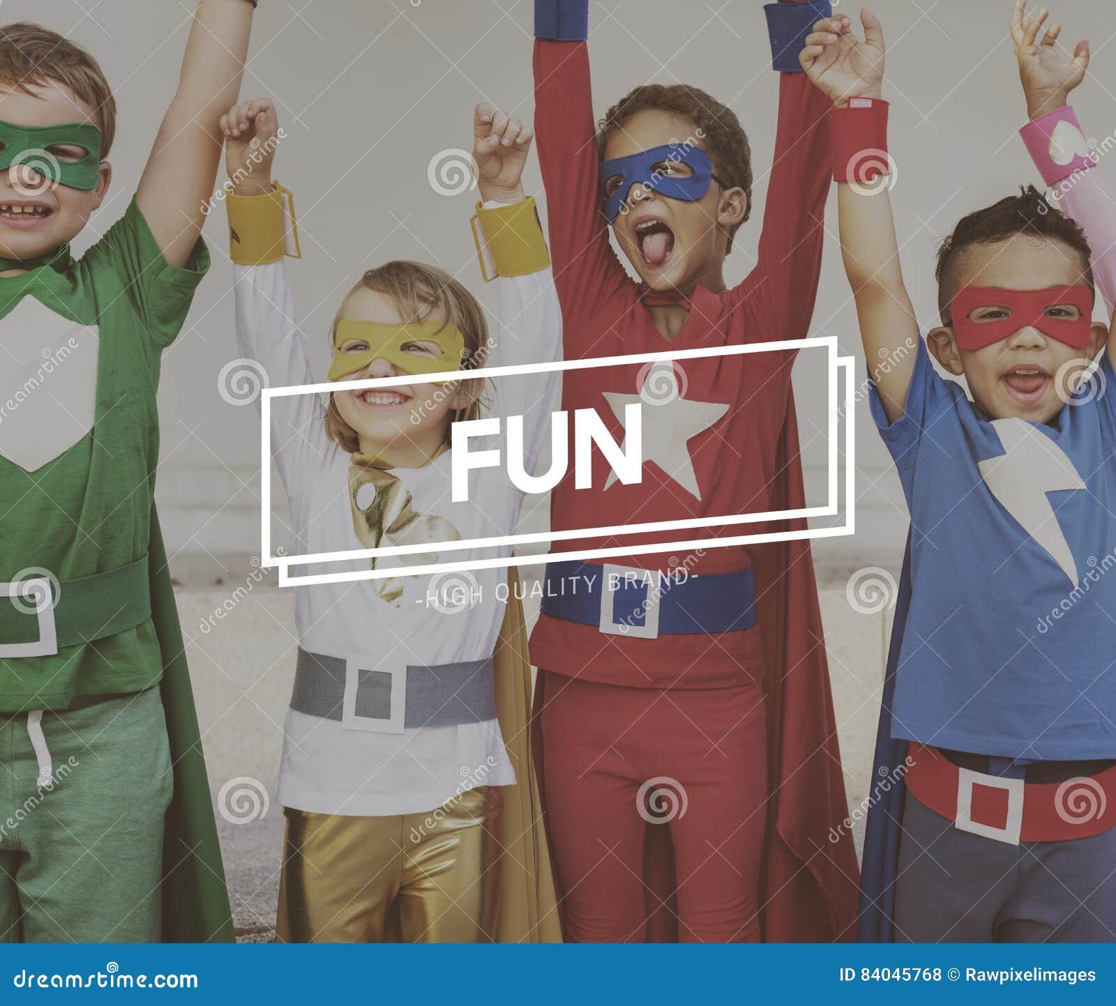 Concepto de Team Kids Heroes Aspiration Goals