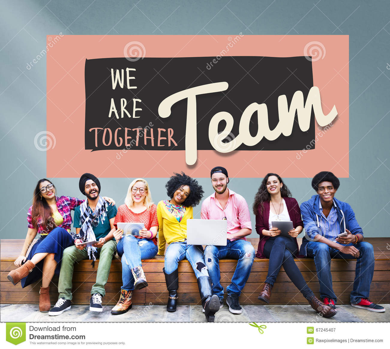 Concepto de Team Teamwork Togetherness Union Partnership