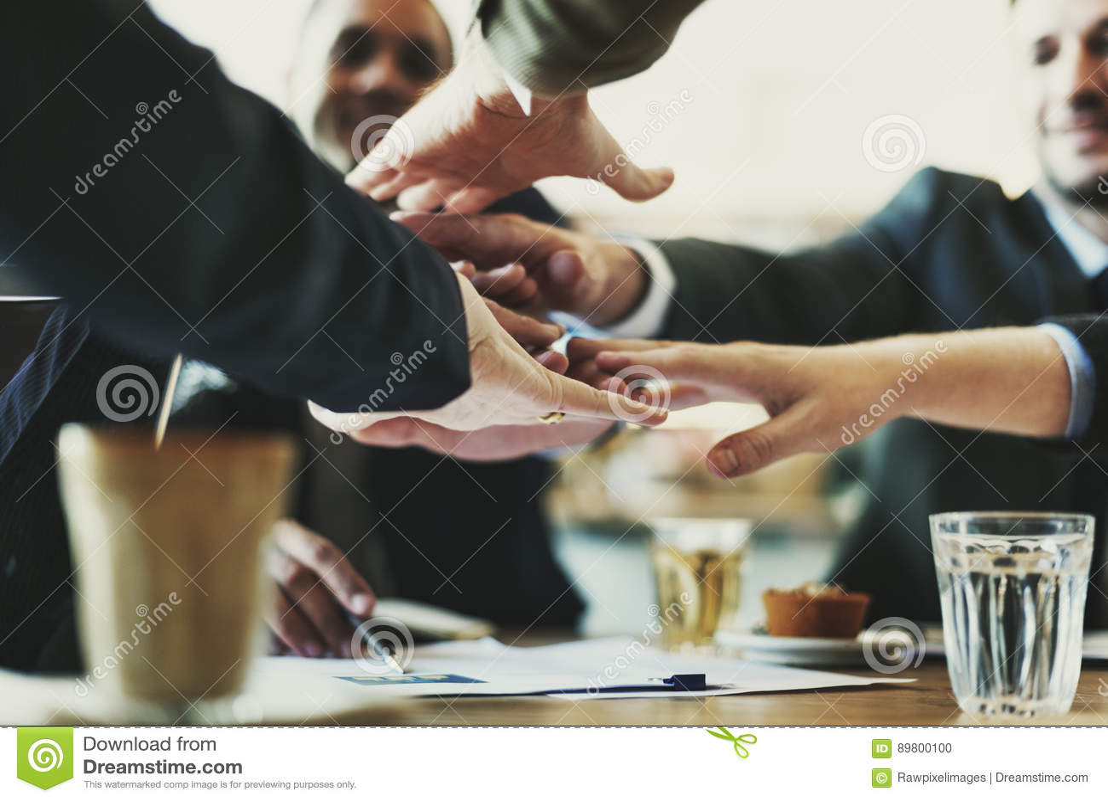 Concepto de Team Unity Friends Meeting Partnership