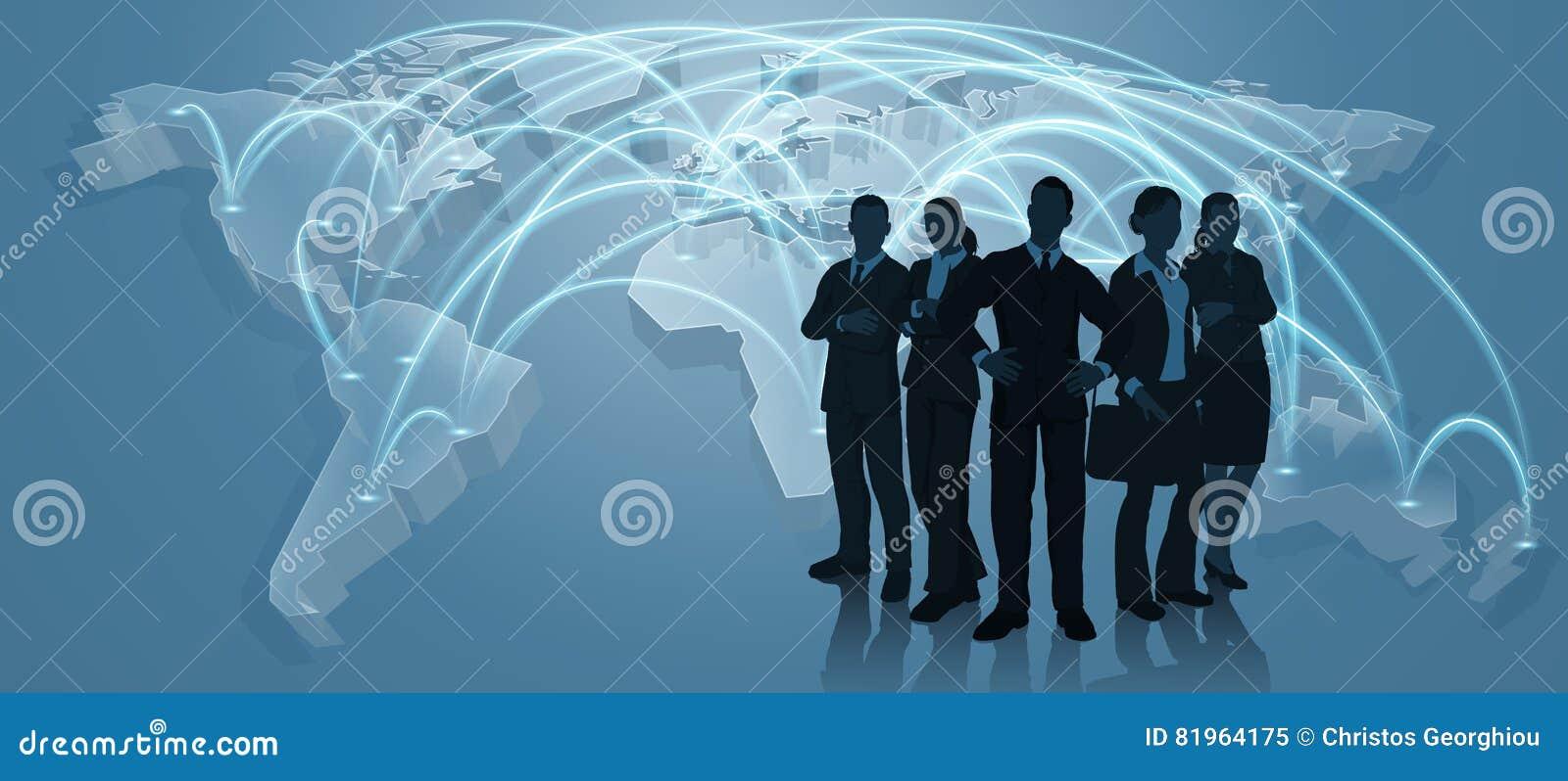 Concepto de Team World Trade Map Logistics del negocio