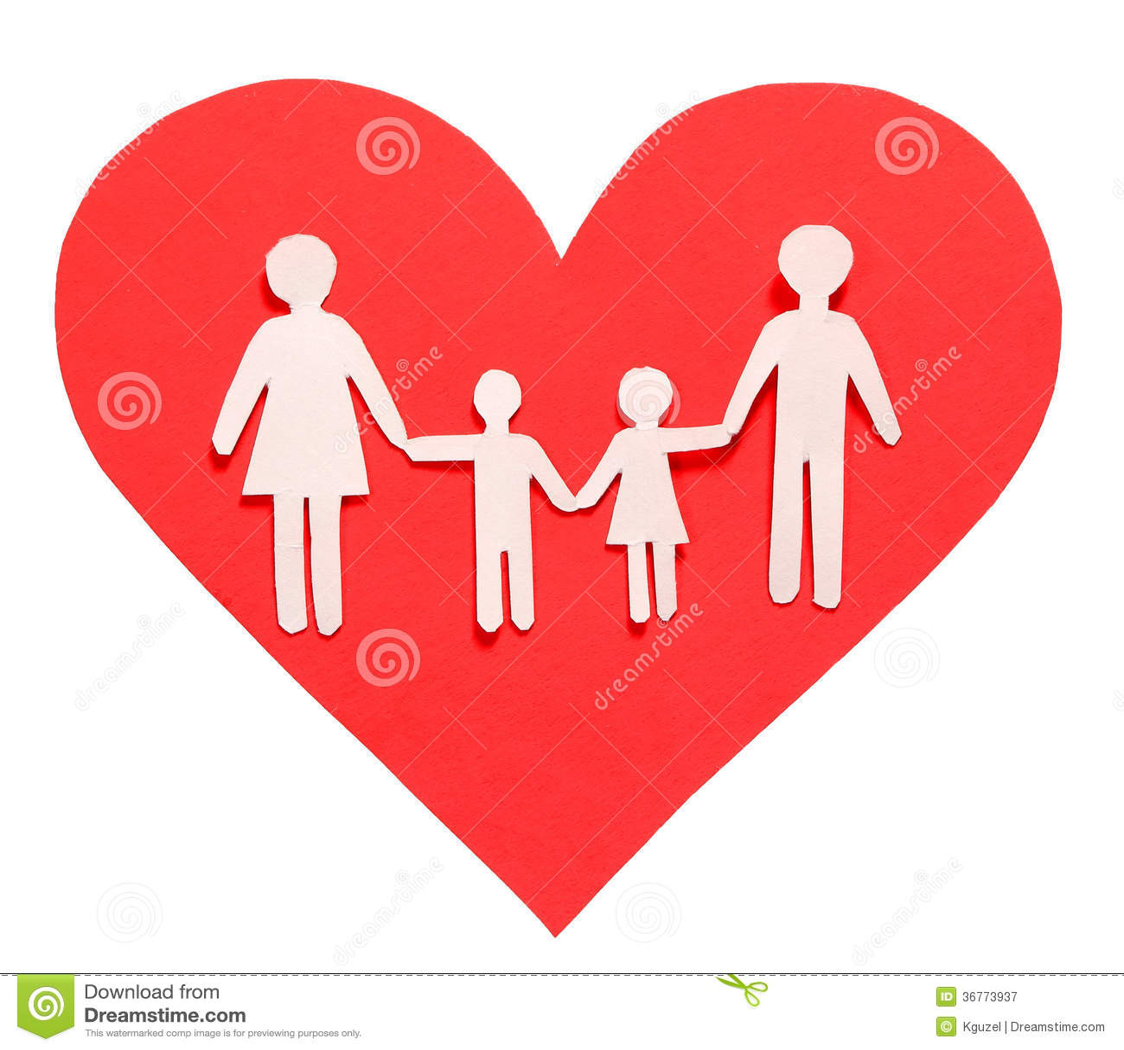 Concepto del amor y de familia familia de papel en el for Concepto de la familia para ninos