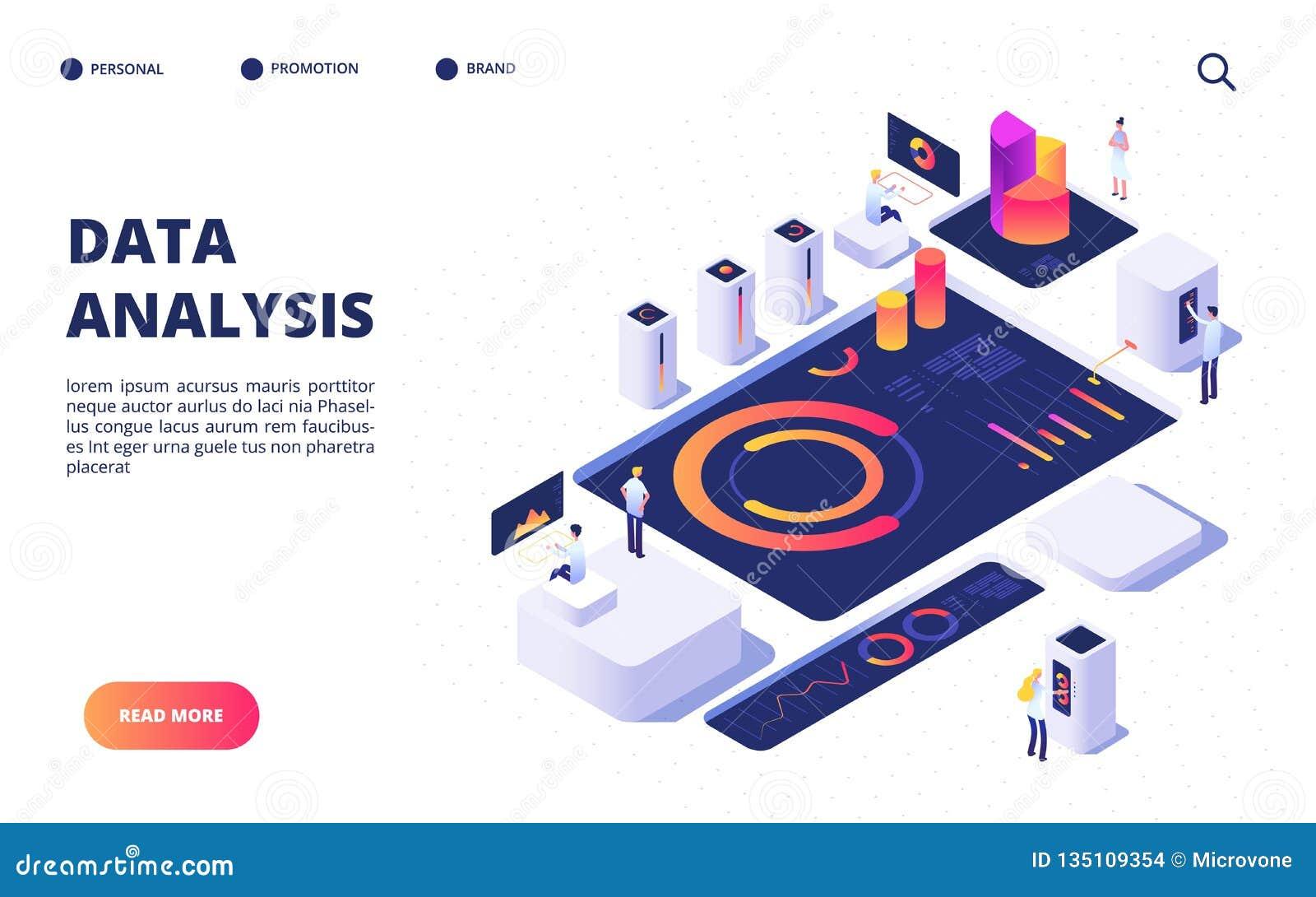 Concepto del análisis de datos Infographic digital de la estructura del equipo del negocio con el tablero de instrumentos, las ca