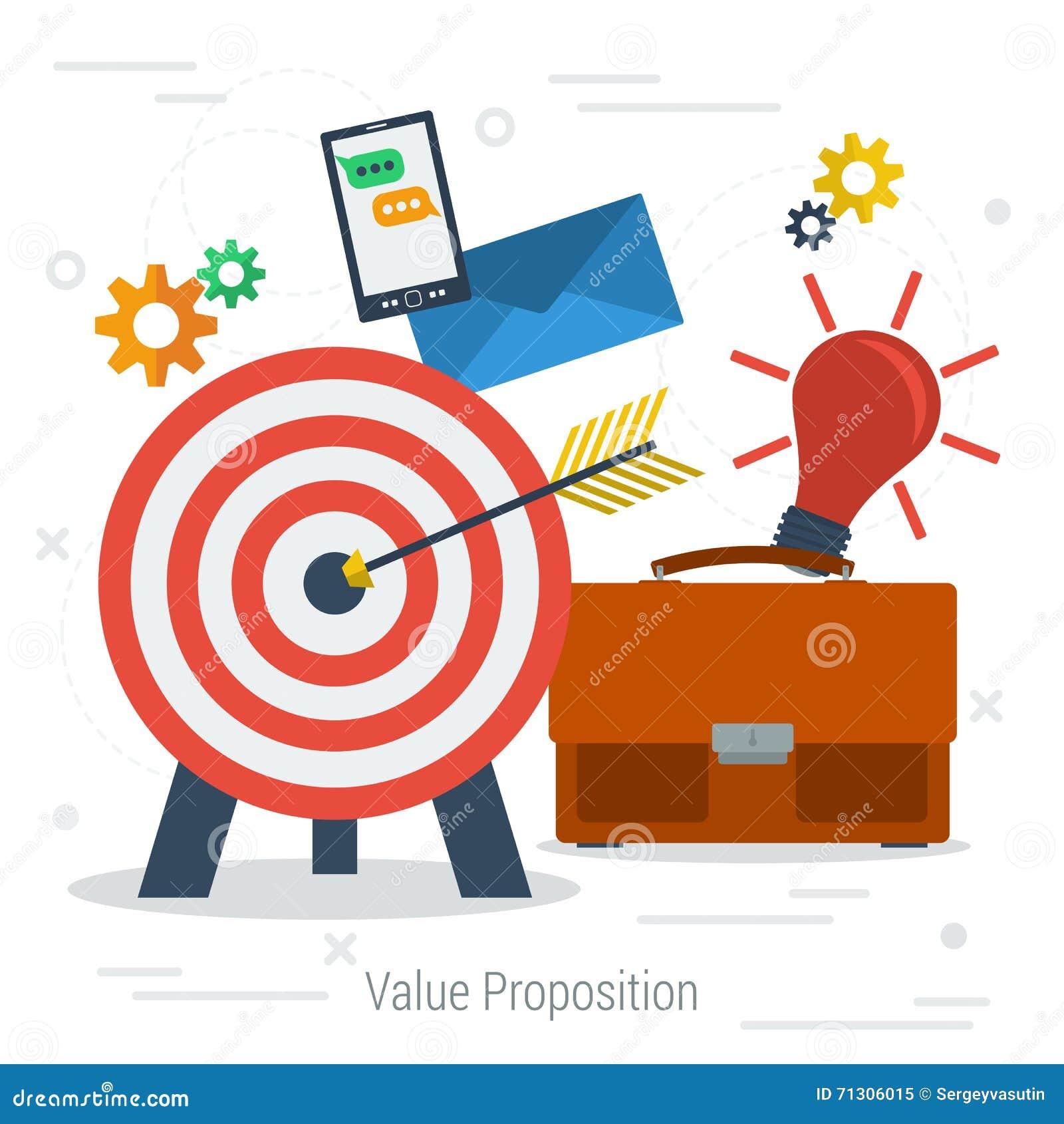 Concepto del asunto del valor del vector