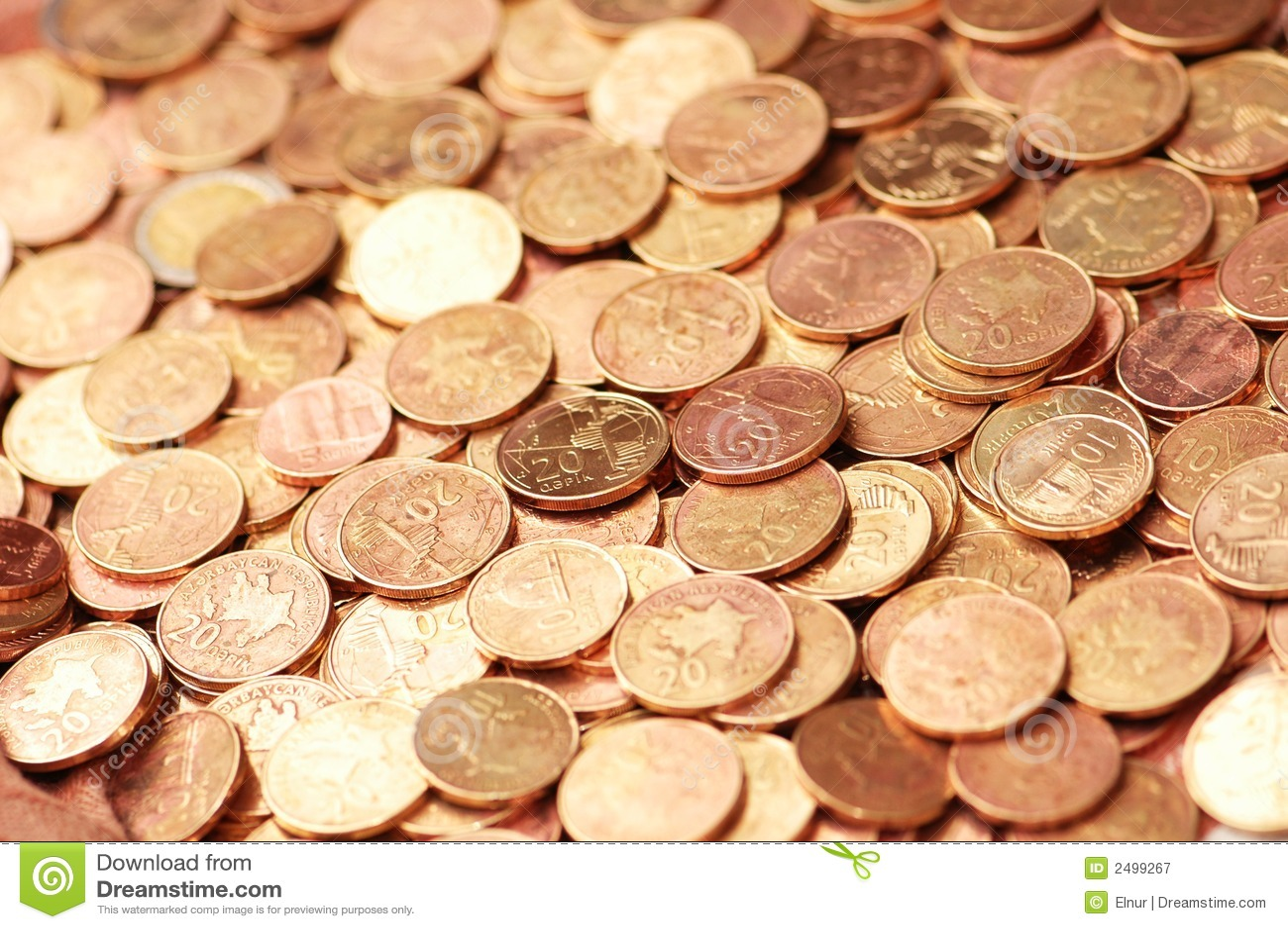 Concepto del asunto - monedas