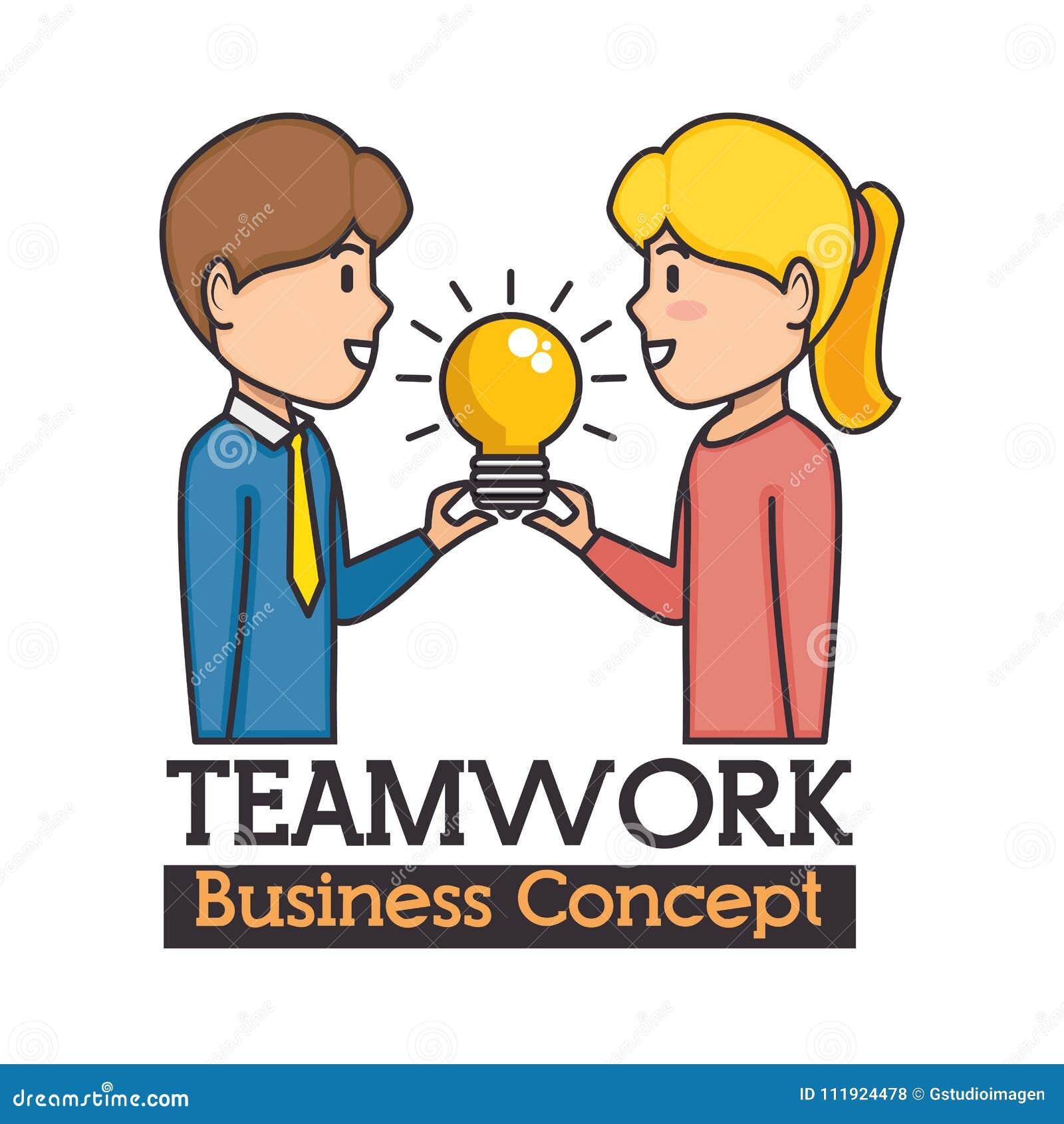 Concepto del asunto del trabajo en equipo