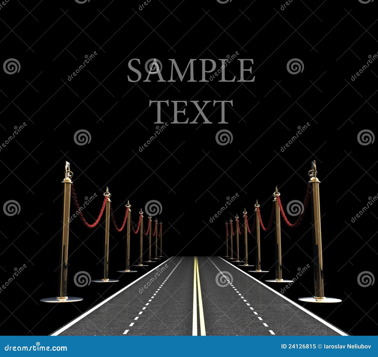 Concepto del camino de la alfombra