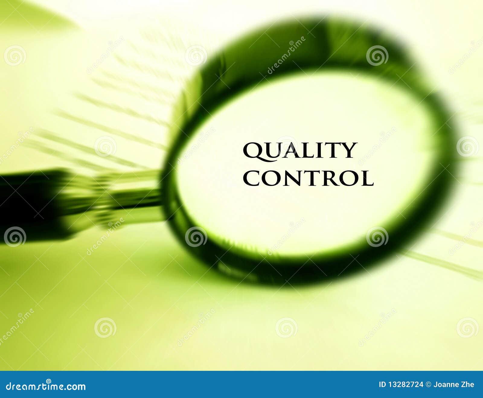 Concepto del control de calidad