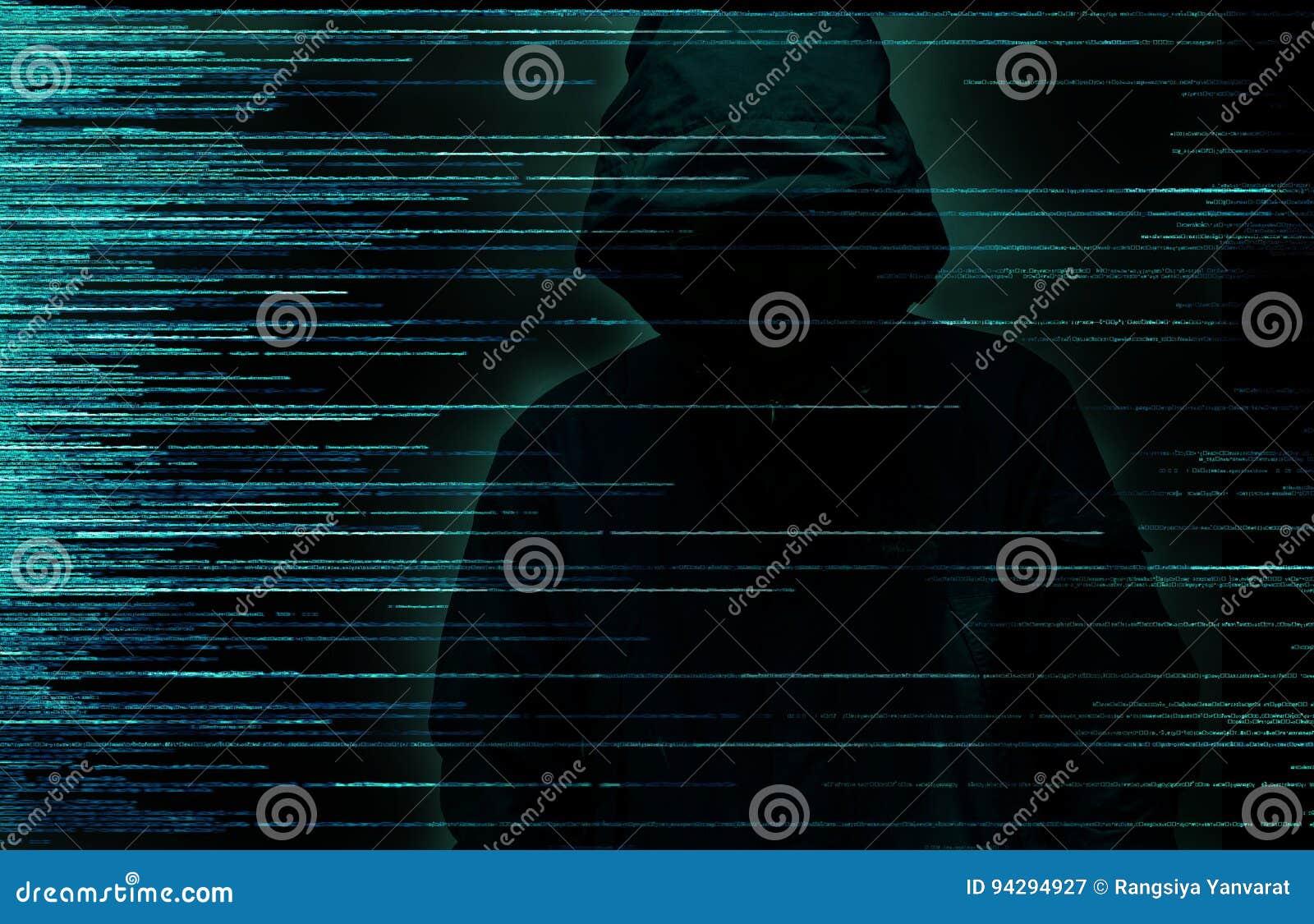 Concepto del crimen de Internet del pirata informático