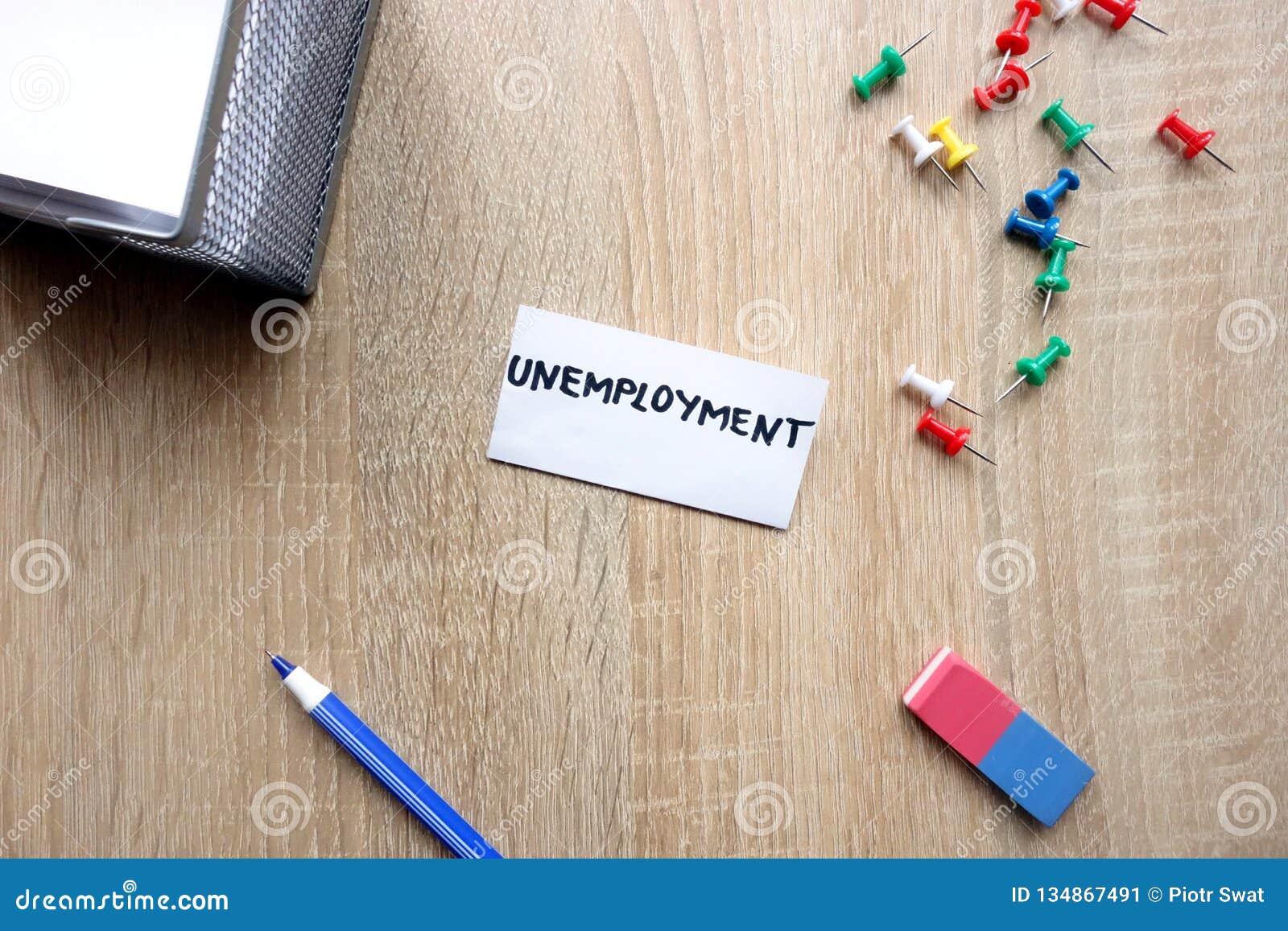 Concepto del desempleo