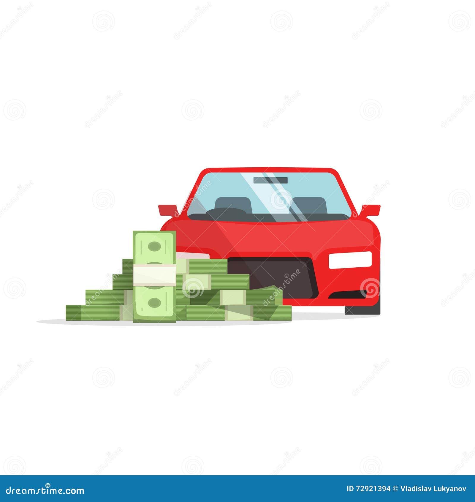 Concepto Del Dinero Del Coche De Costos, Ahorros Autos, éxito ...