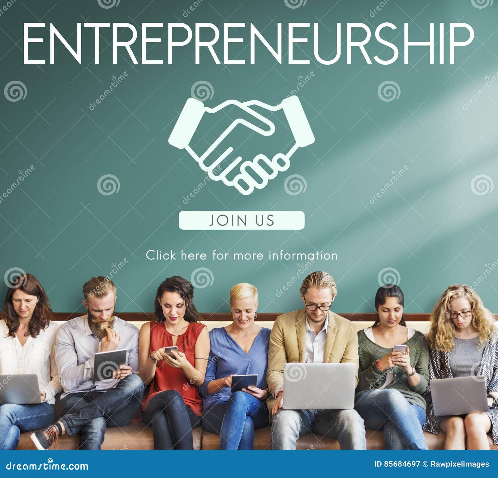 Concepto del distribuidor autorizado de la empresa corporativa del espíritu emprendedor