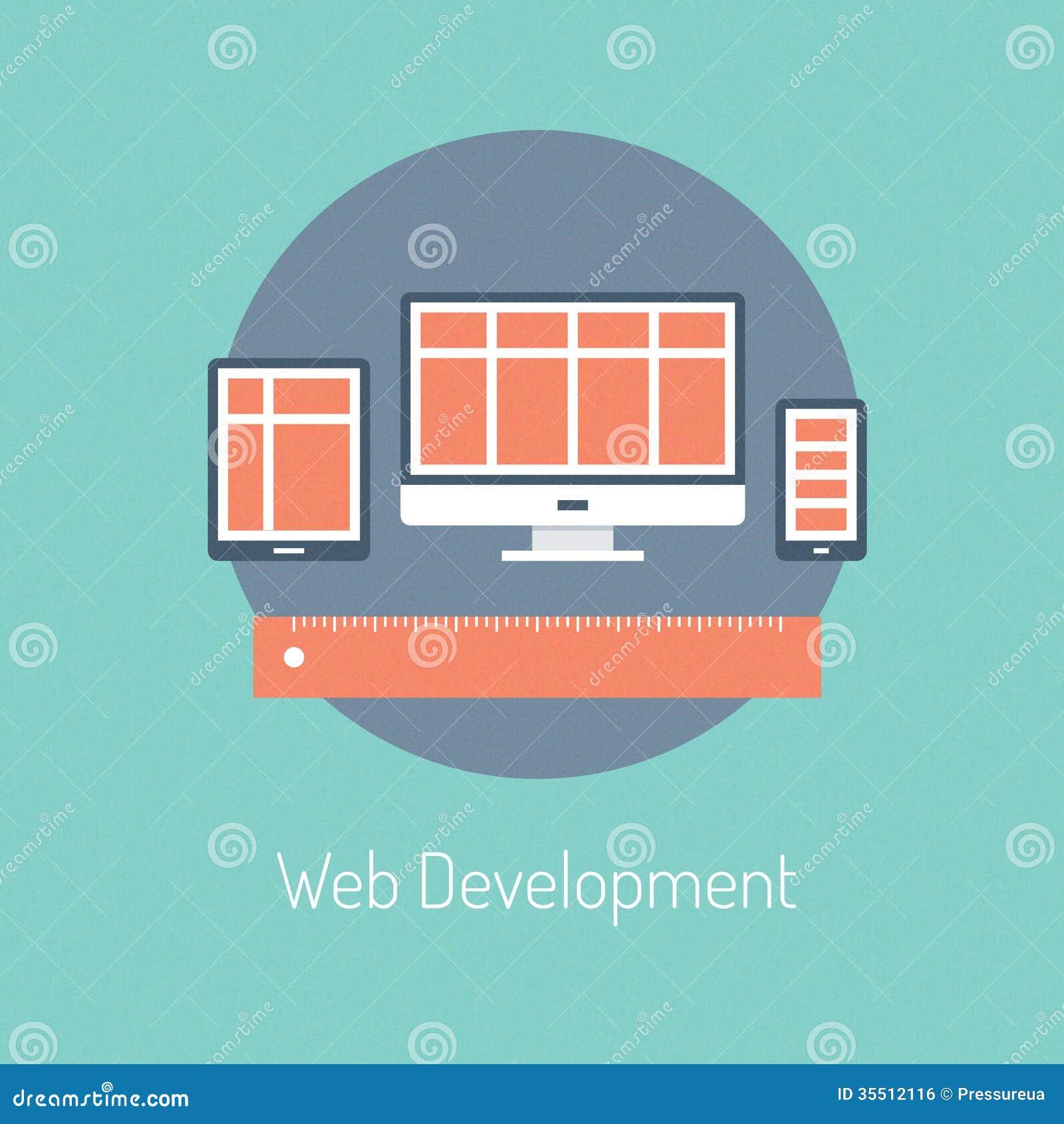 Concepto del ejemplo del desarrollo web