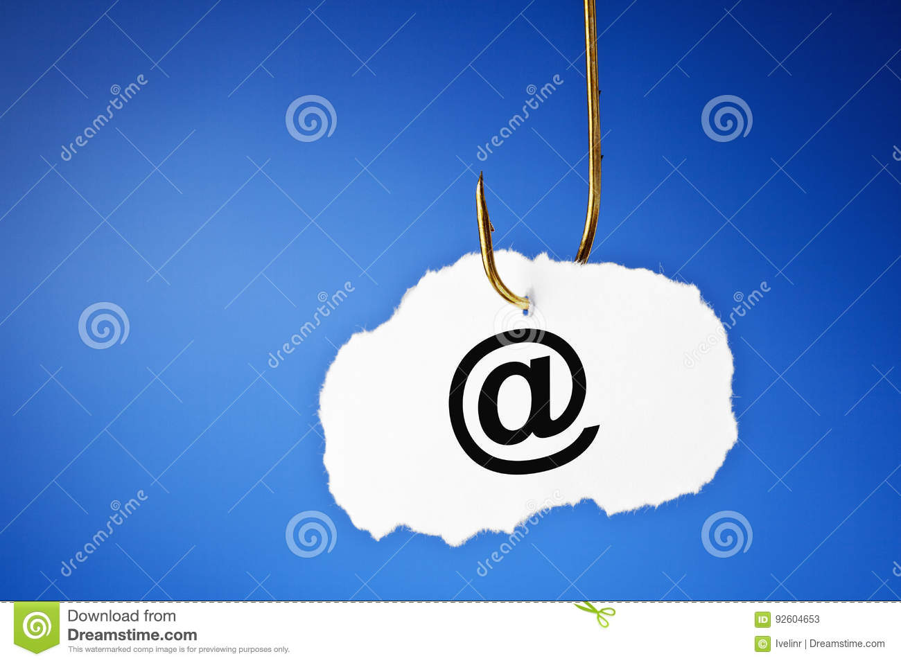 Concepto del email del phishing