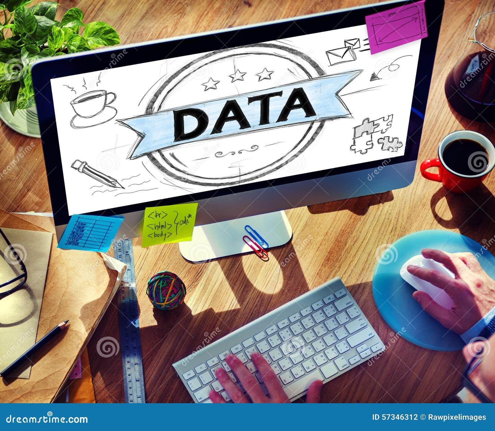 Concepto del establecimiento de una red de la información de la comparación del Analytics del análisis de datos