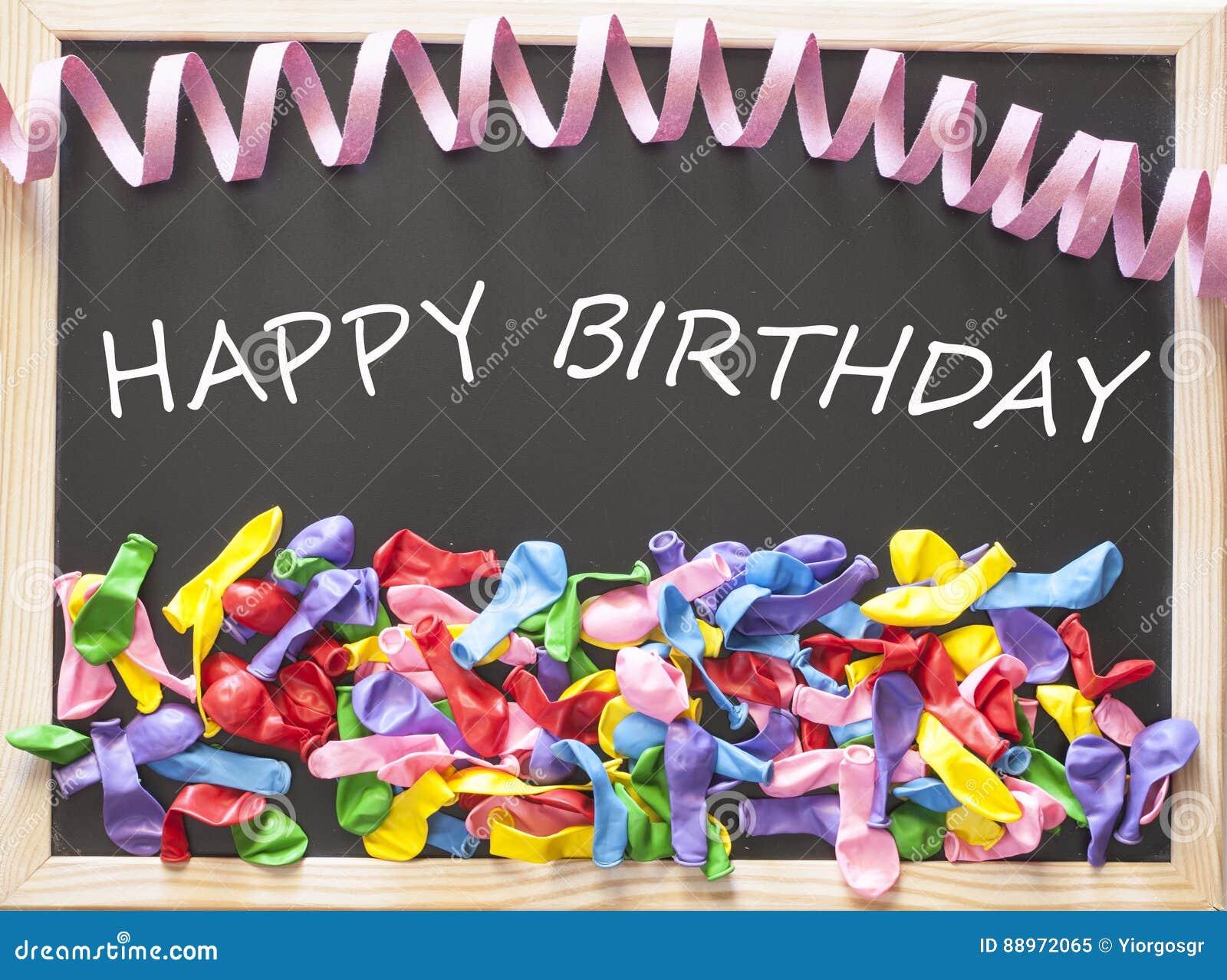 Concepto del feliz cumpleaños