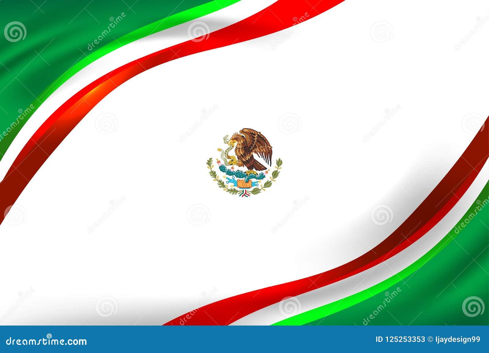 Concepto Del Fondo Del Color De La Bandera De México