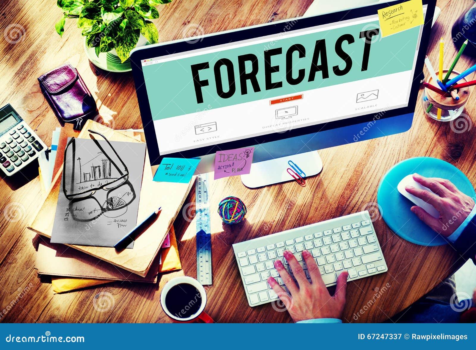 Concepto del futuro de la probabilidad de la precisión de la predicción del pronóstico