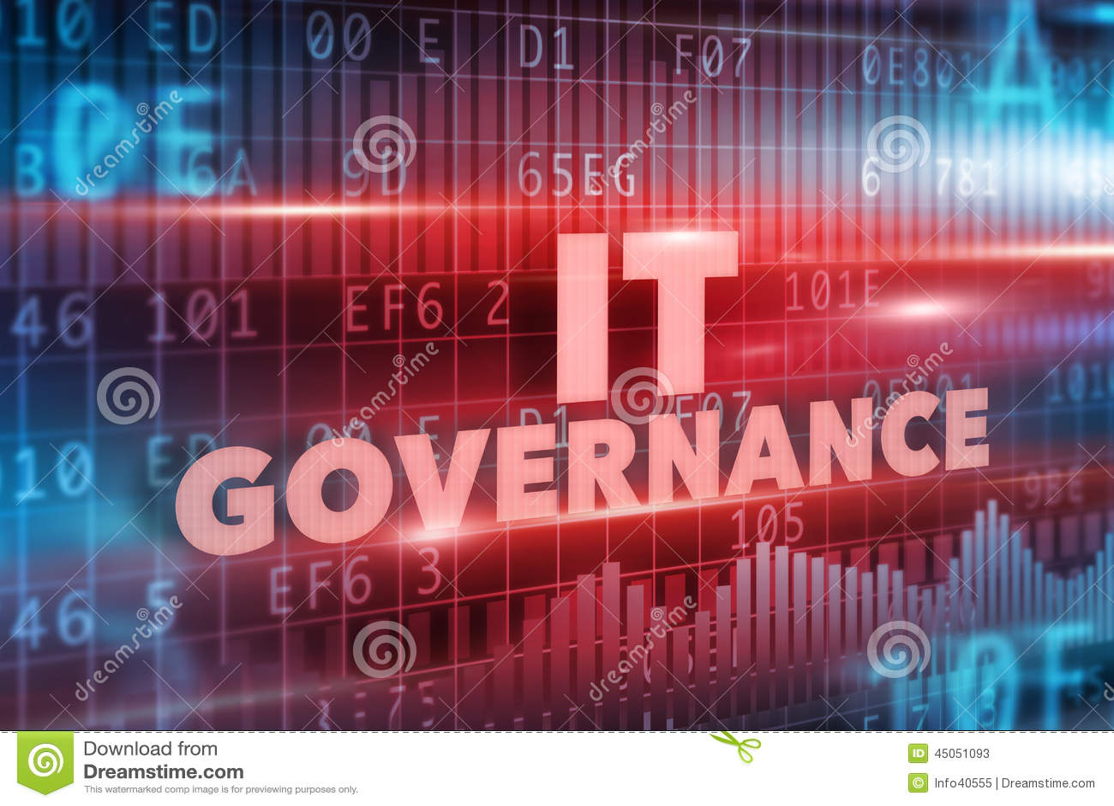 Concepto Del Gobierno De Las TIC Imagen de archivo - Imagen de ...