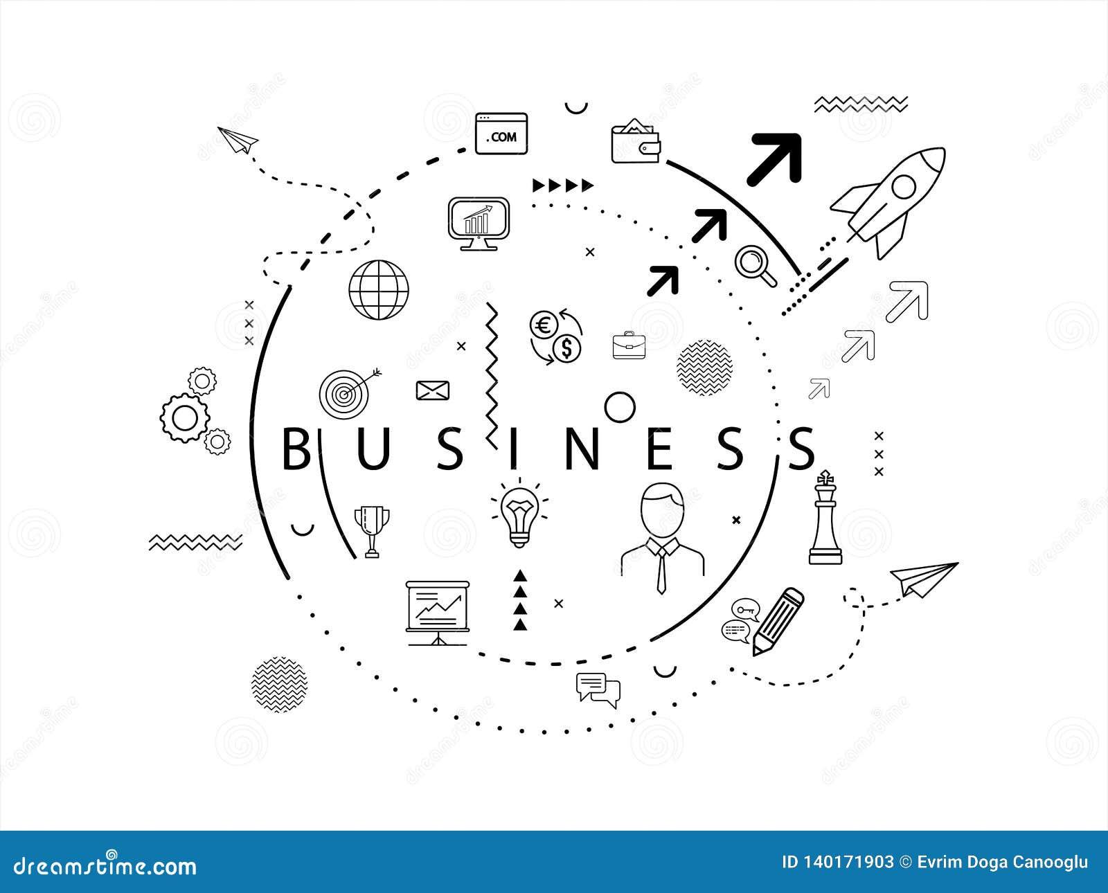 Concepto del icono del negocio Ilustración del vector EPS 10