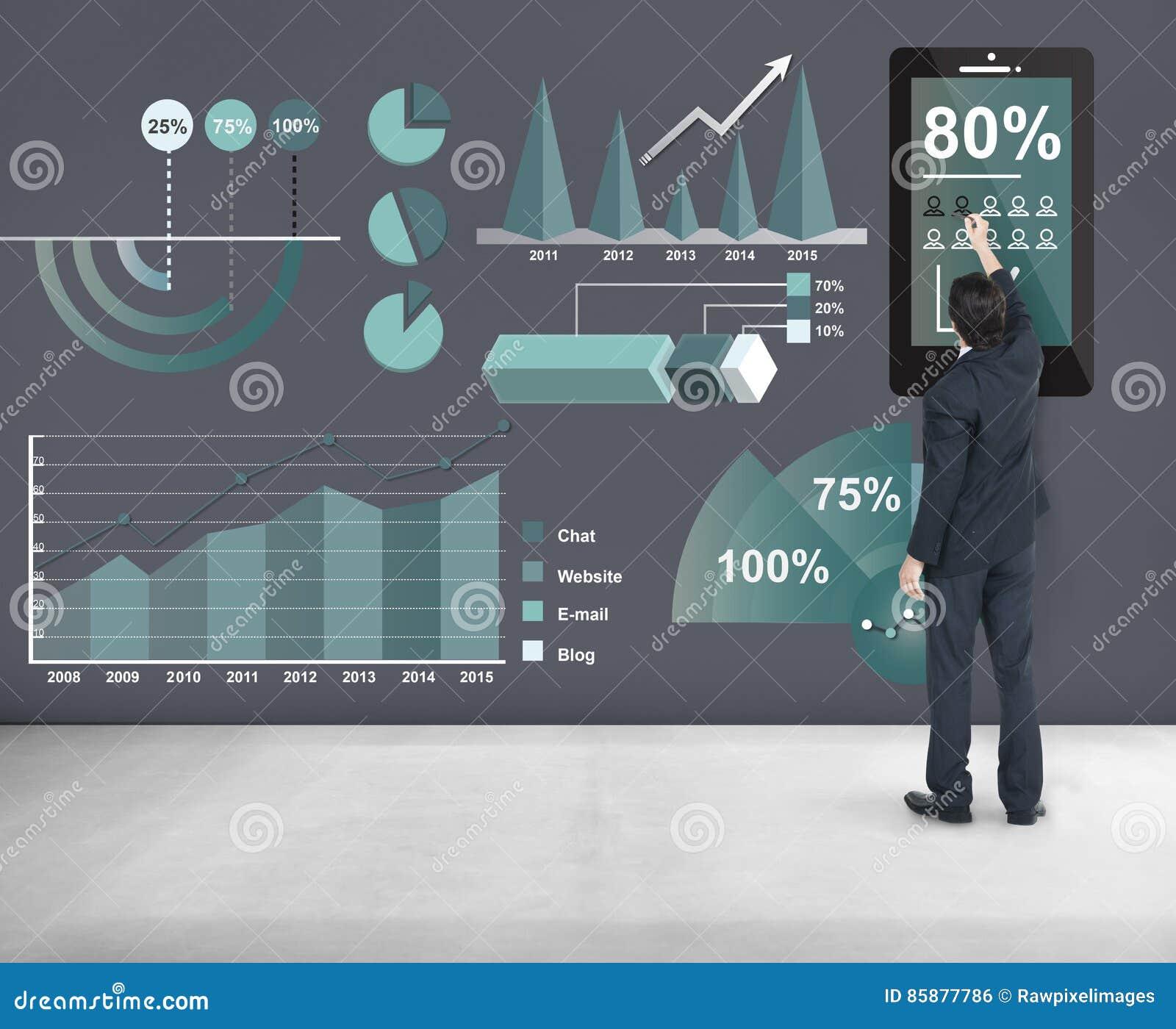 Concepto del informe de negocios del márketing del Analytics