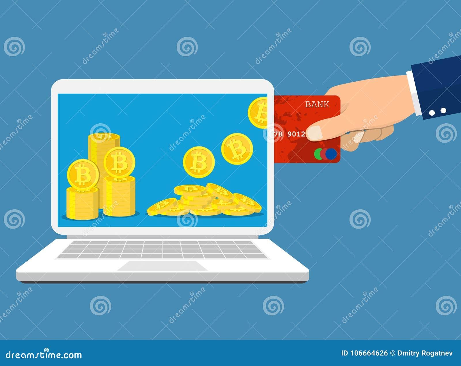 Concepto del intercambio de Bitcoin