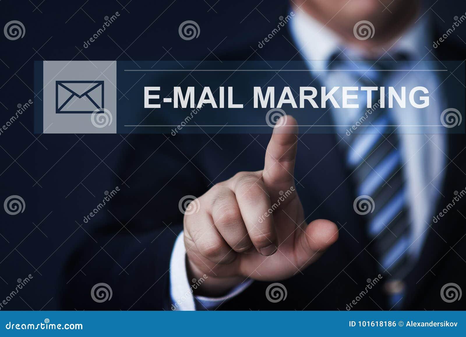 Concepto del Internet de la tecnología del negocio de la comunicación de marketing del email