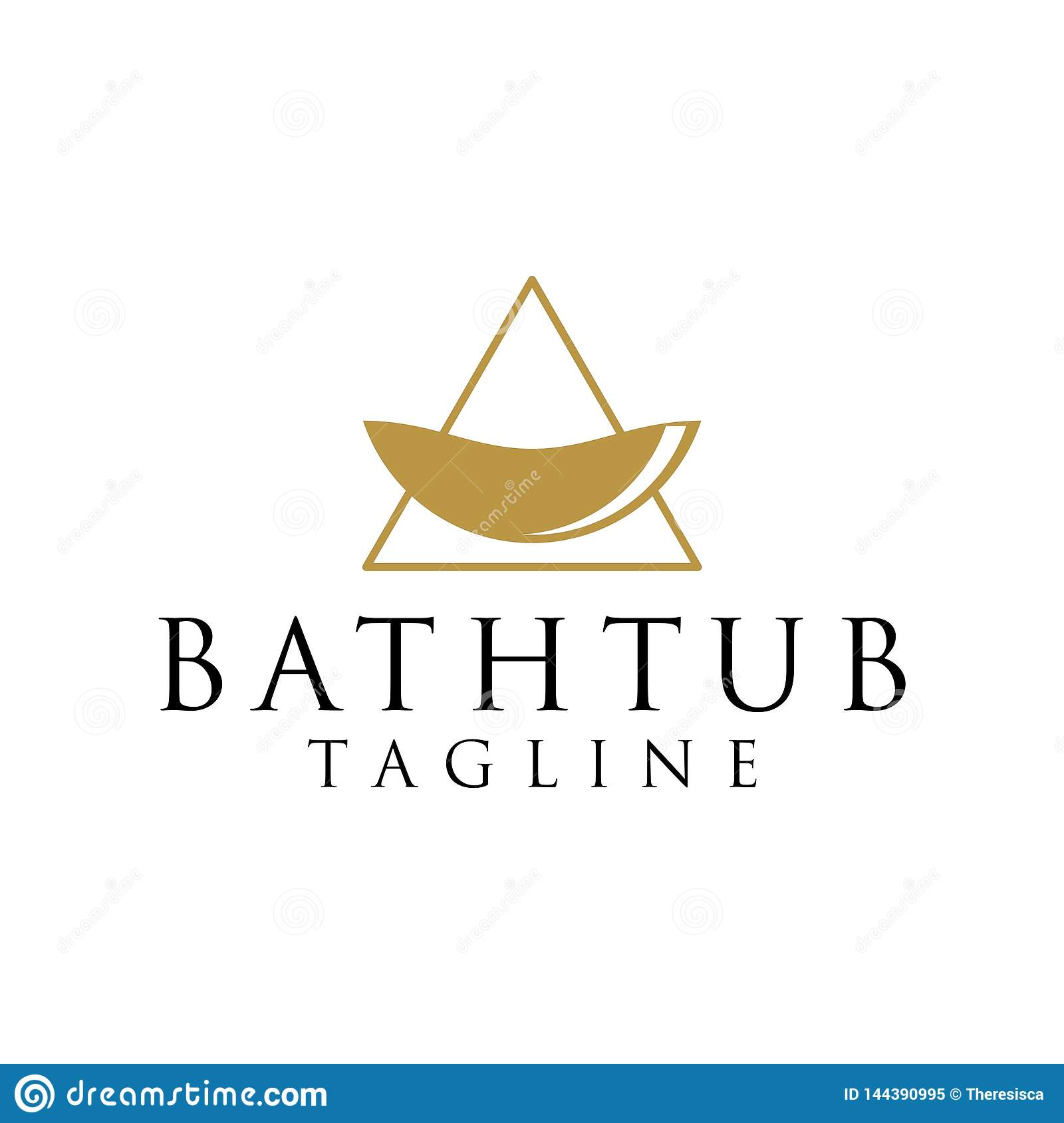 Concepto del logotipo de Bathtube