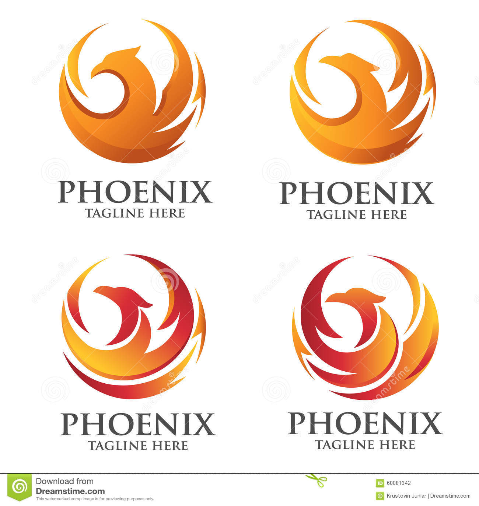 Concepto del logotipo del círculo de Phoenix