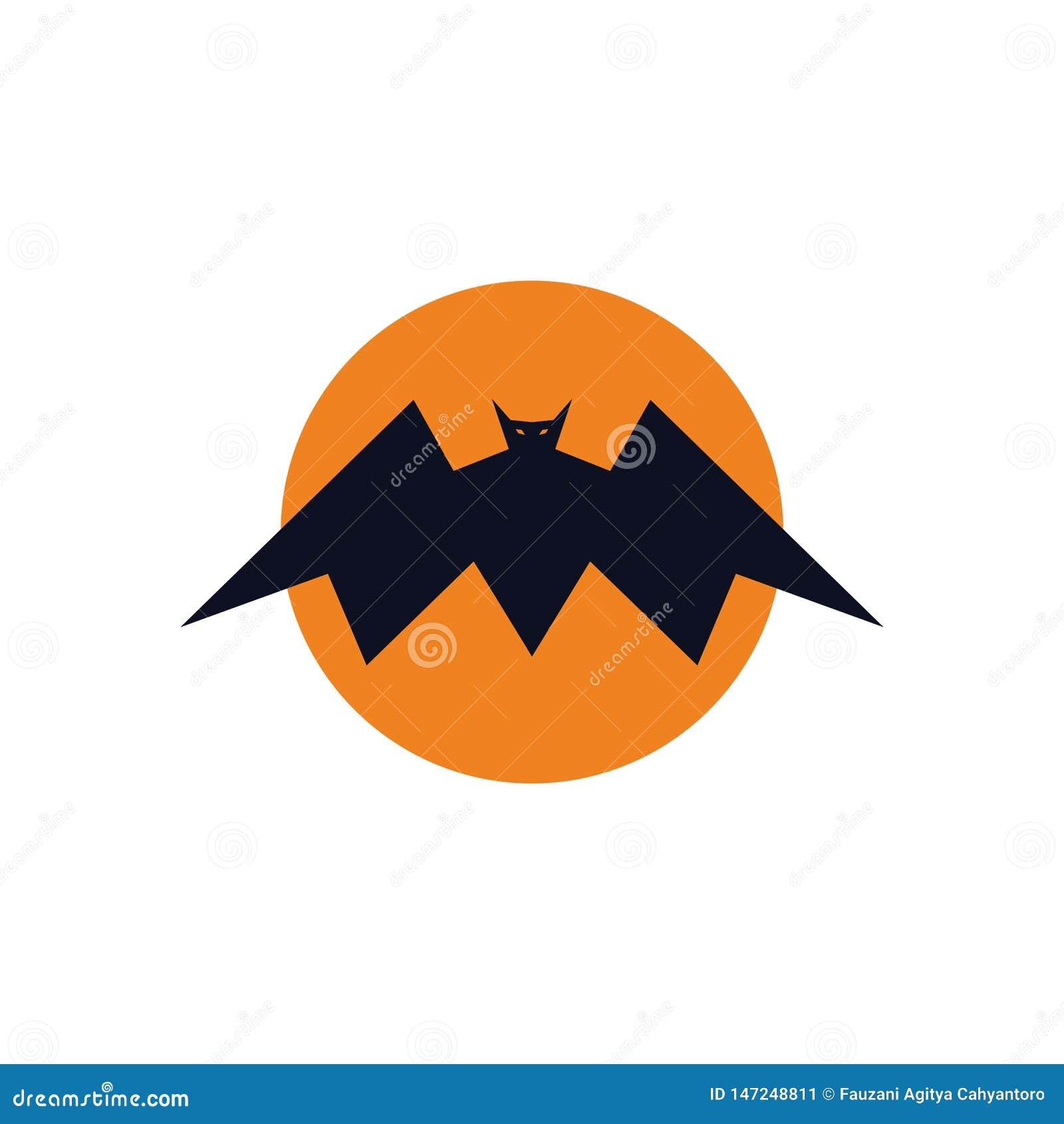 Concepto del logotipo del palo del rey de la Luna Llena