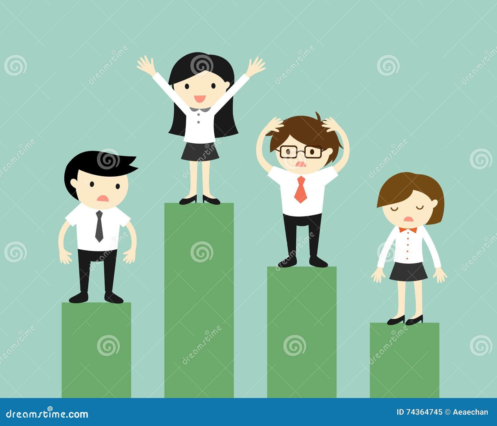 Concepto del negocio, competencia de hombres de negocios