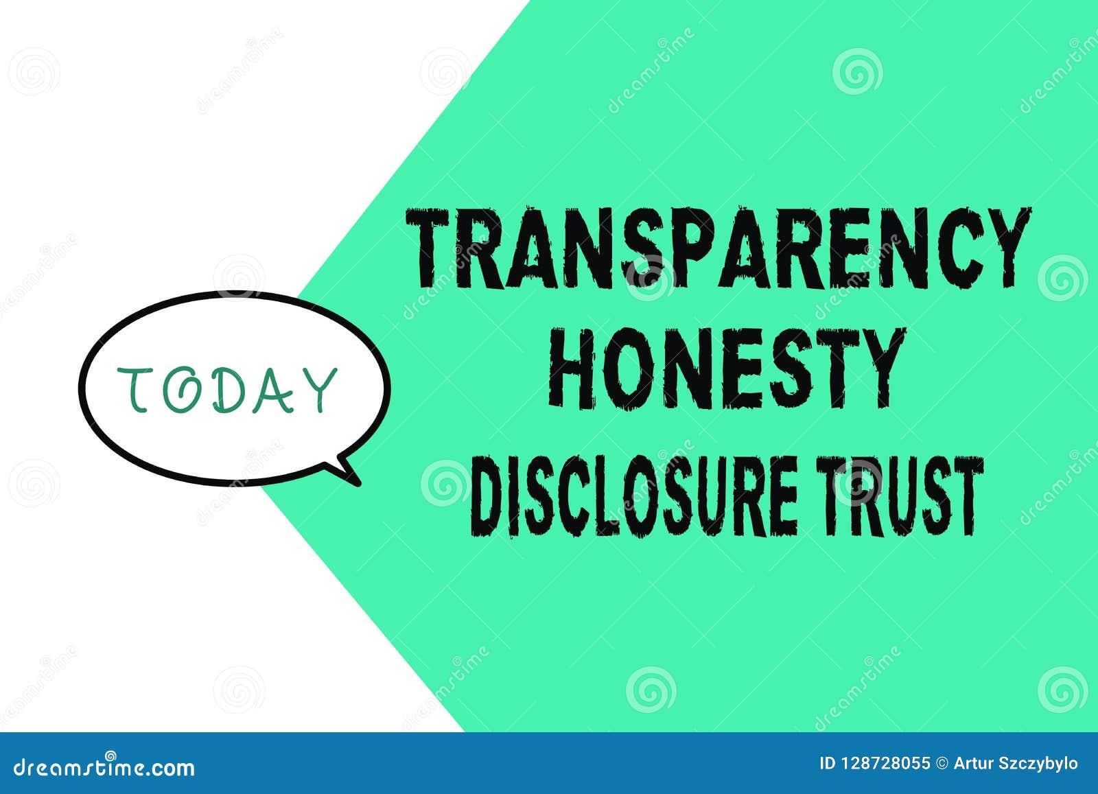 Concepto del negocio de confianza del acceso de la honradez de la transparencia de texto de la escritura de la palabra para la vo