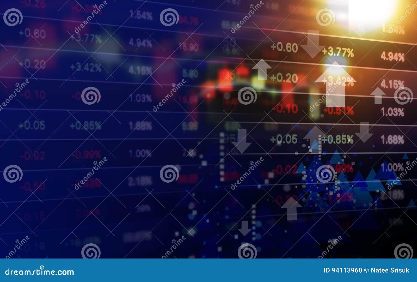 Concepto del negocio de diseño del fondo del mercado de acción