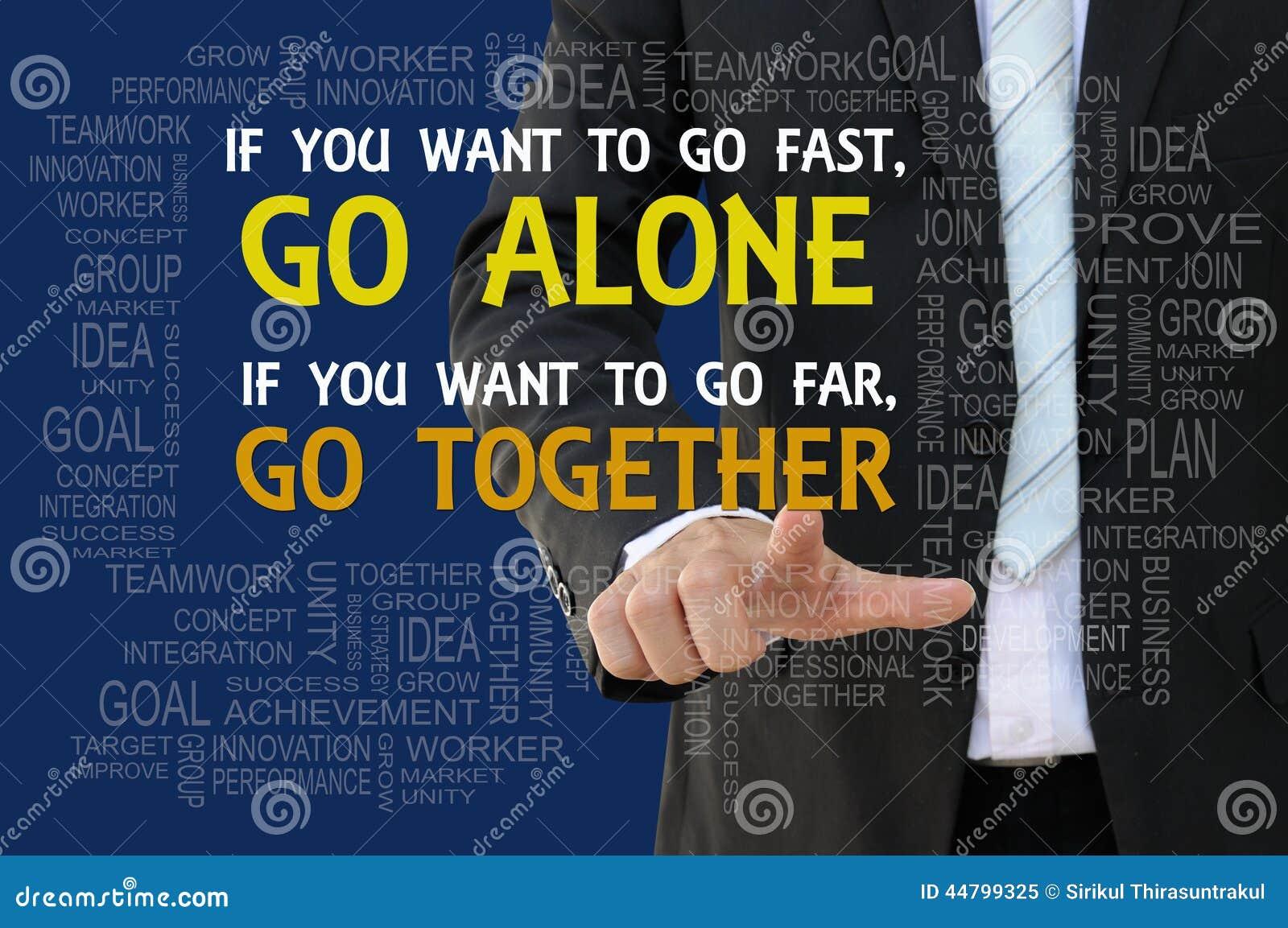 Concepto del negocio del lema del trabajo en equipo