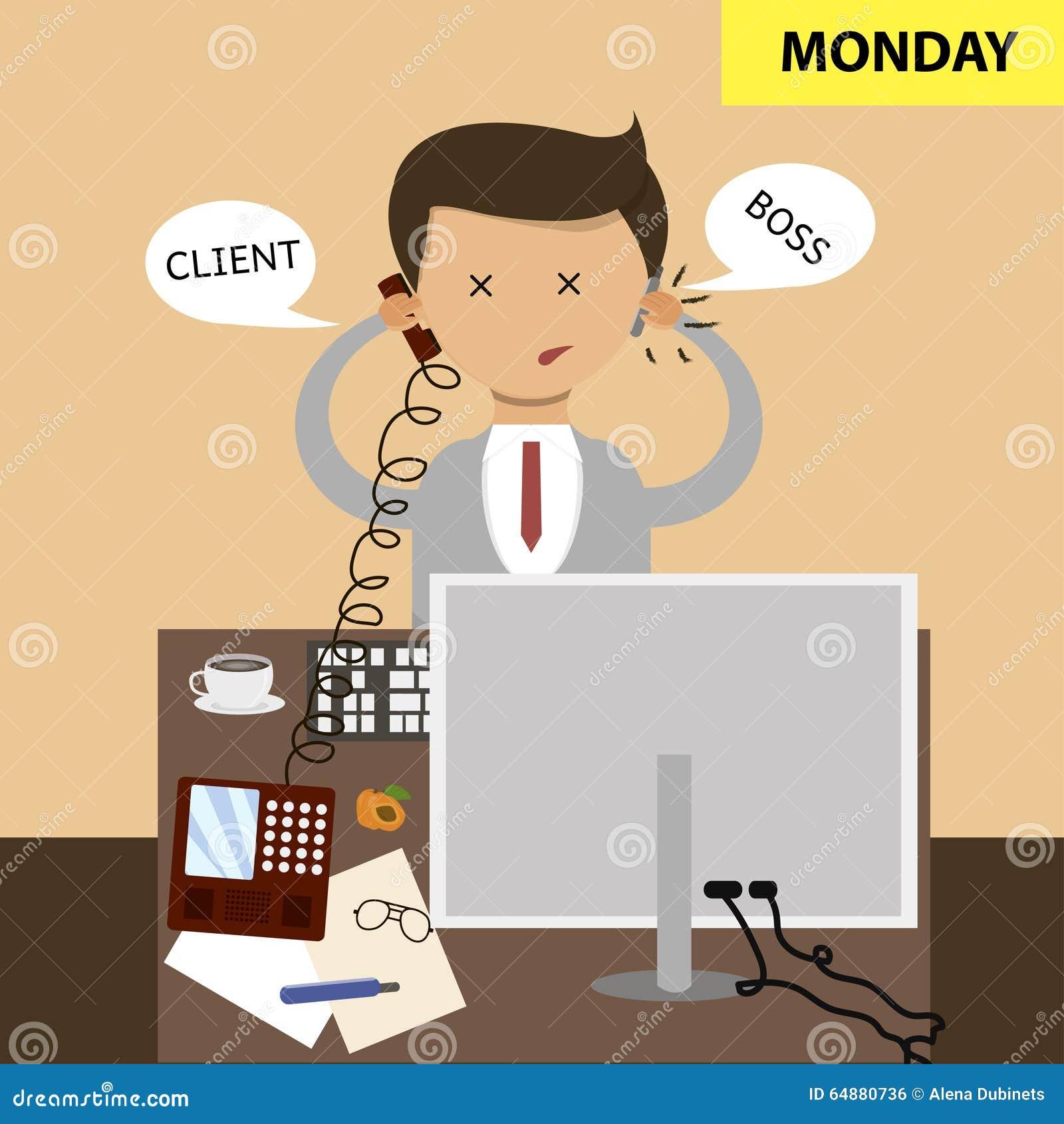 Concepto Del Negocio En Diseño Plano El Sentarse En La Oficina En El ...