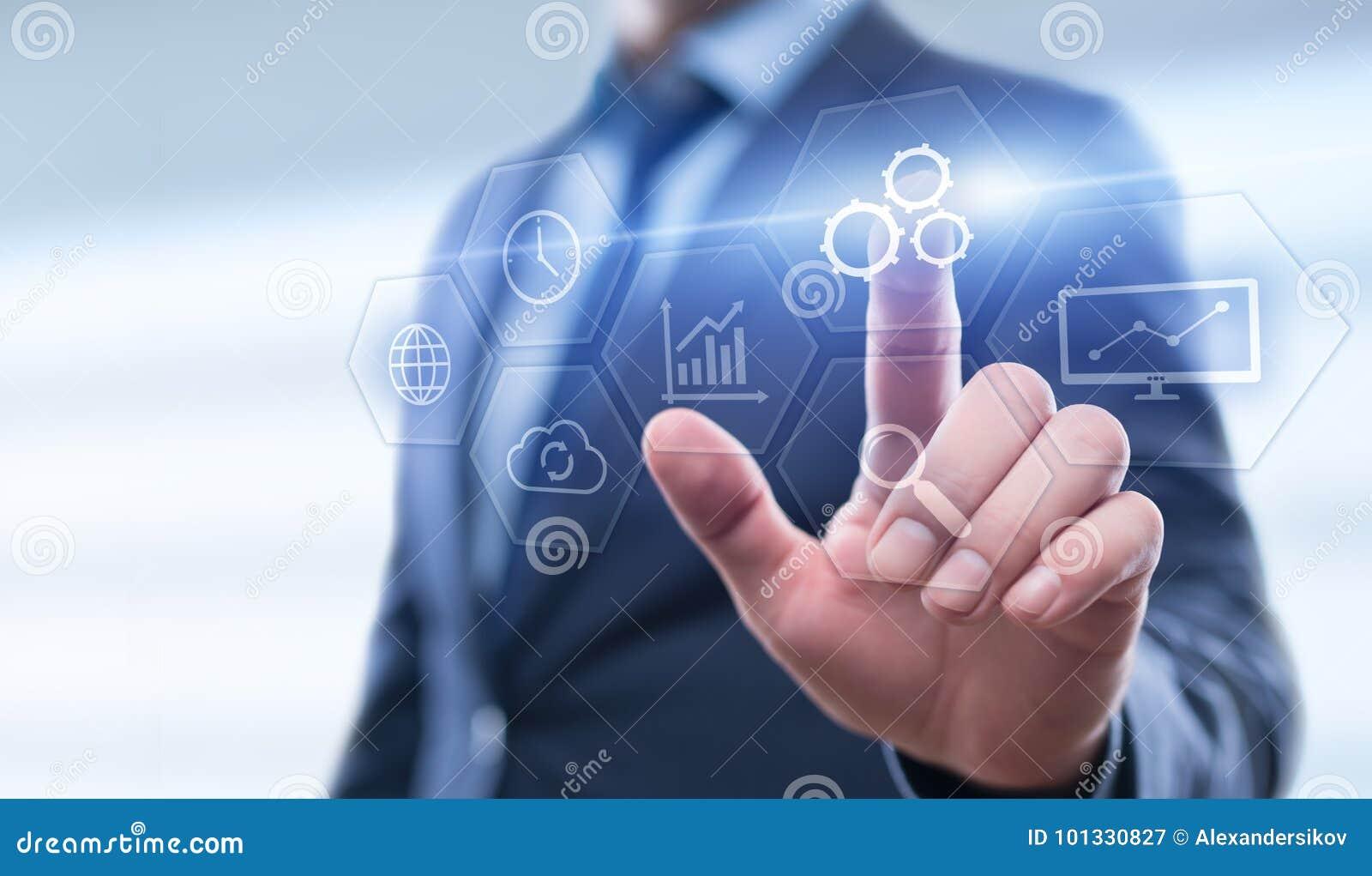 Concepto del negocio del sistema del proceso de la tecnología de programación de la automatización