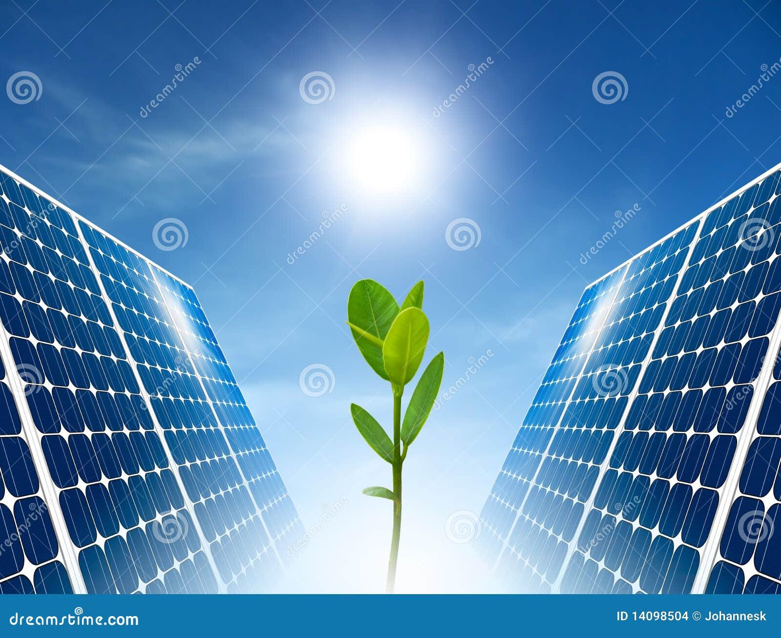 Concepto del panel solar. Energía verde.