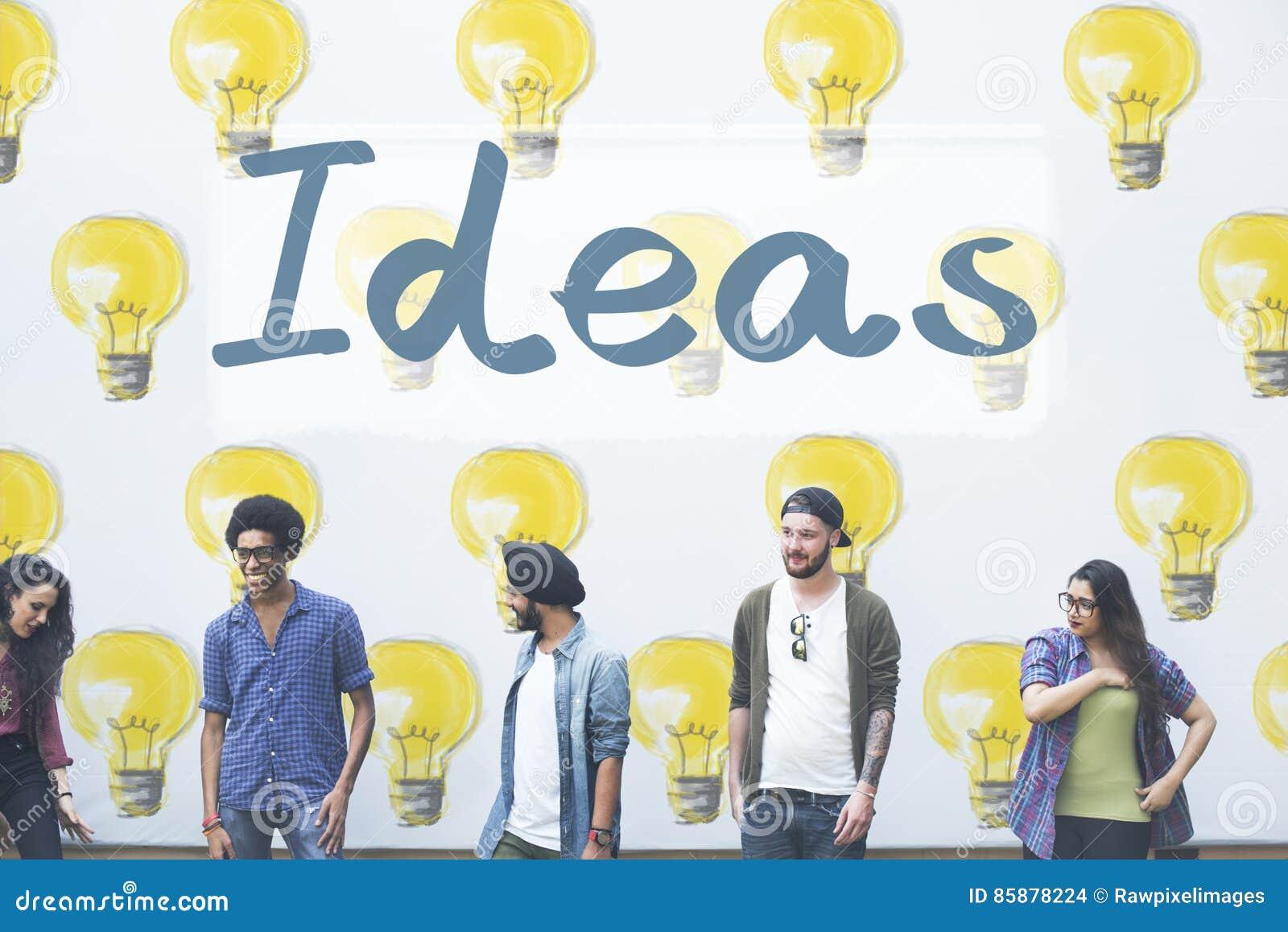 Concepto del plan de los pensamientos de las táctica de la innovación de las ideas