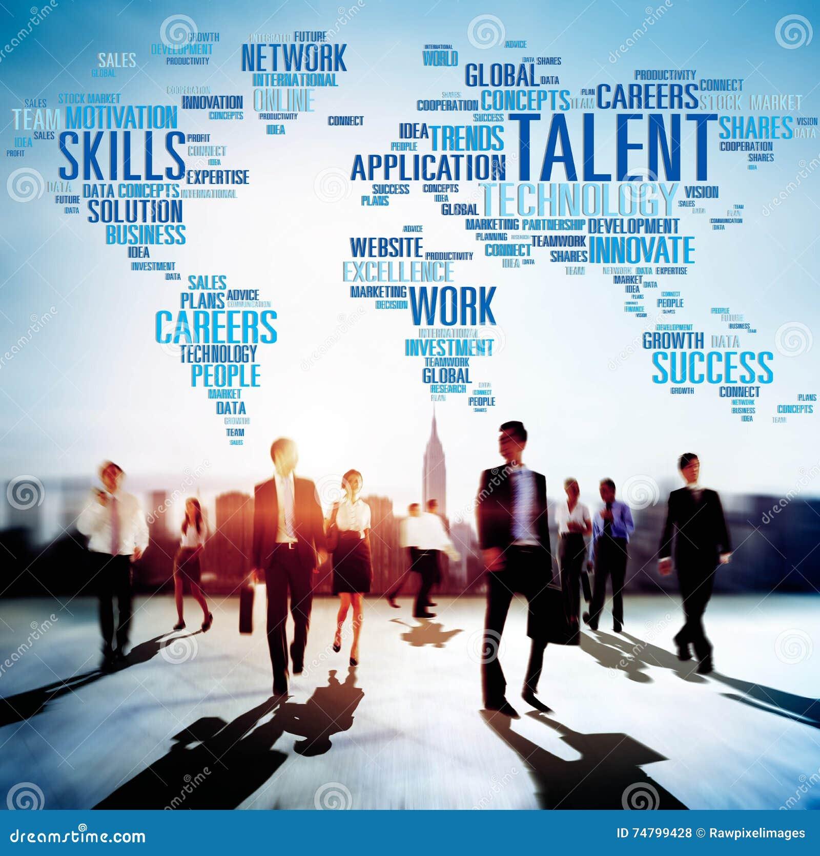 Concepto del profesional de las habilidades del genio de la experiencia del talento
