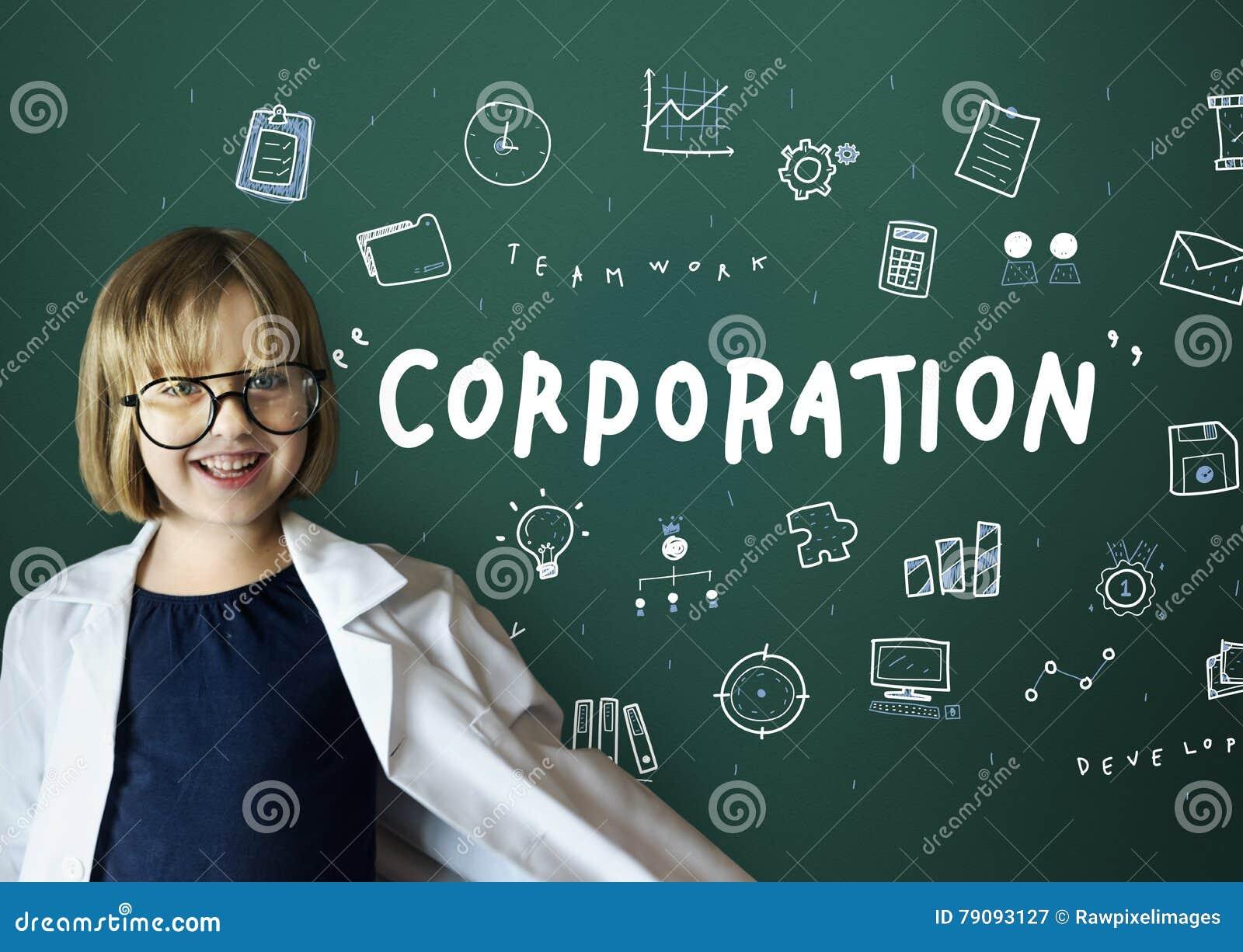 Concepto del progreso de la corporación del márketing